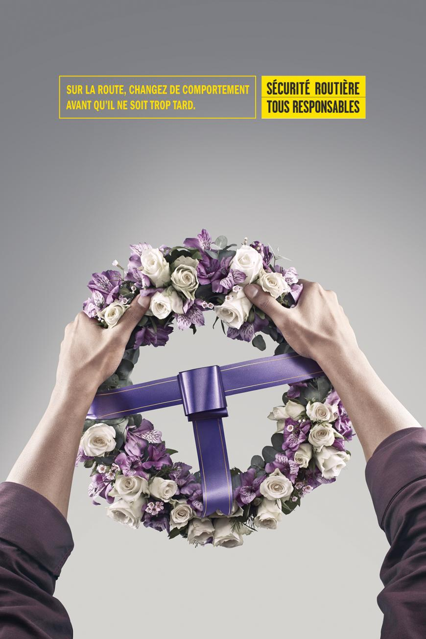 French Road Safety Print Ad -  Wheel