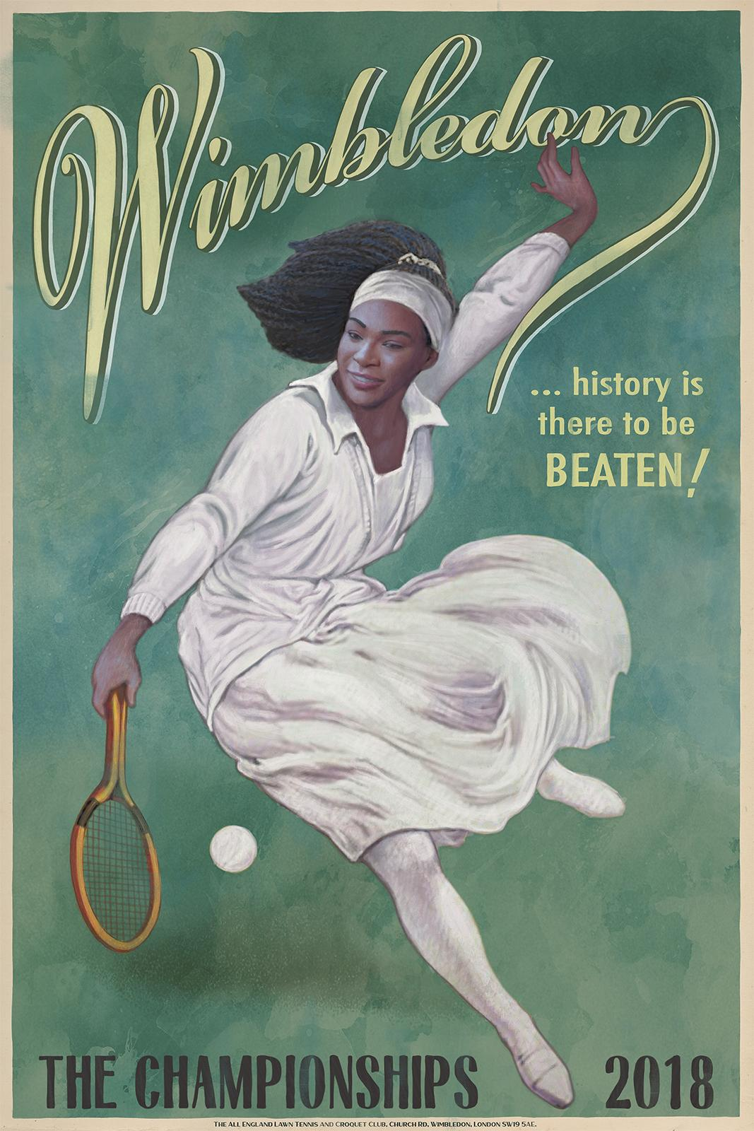 Wimbledon Outdoor Ad - History is There to be Beaten, 2