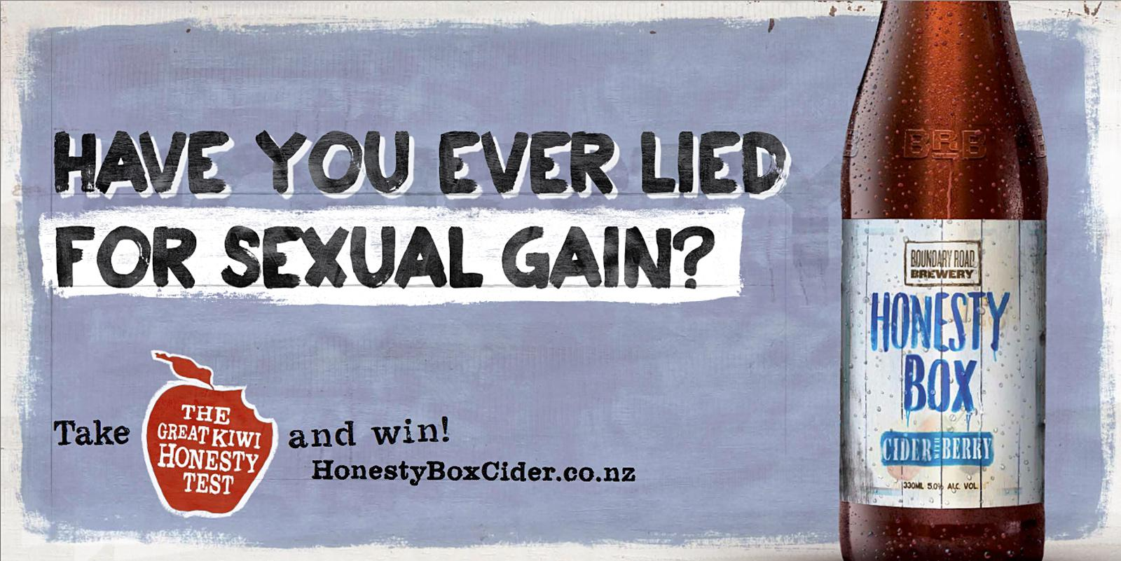 Honesty Box Cider Outdoor Ad -  Sexual Gain