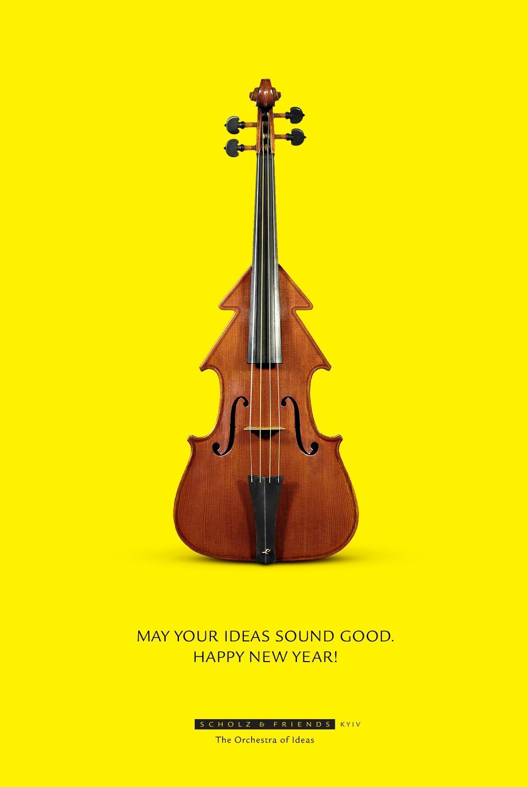 Scholz & Friends Print Ad -  X-mass Violin