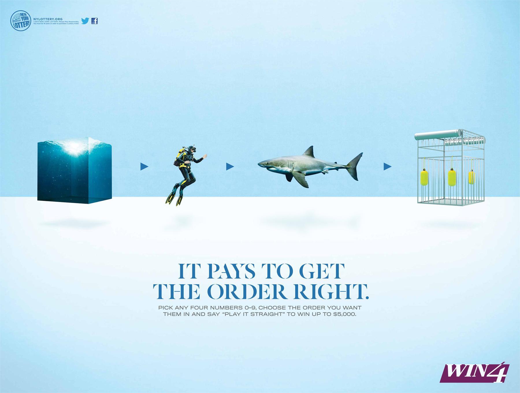 New York Lottery Print Ad -  Shark