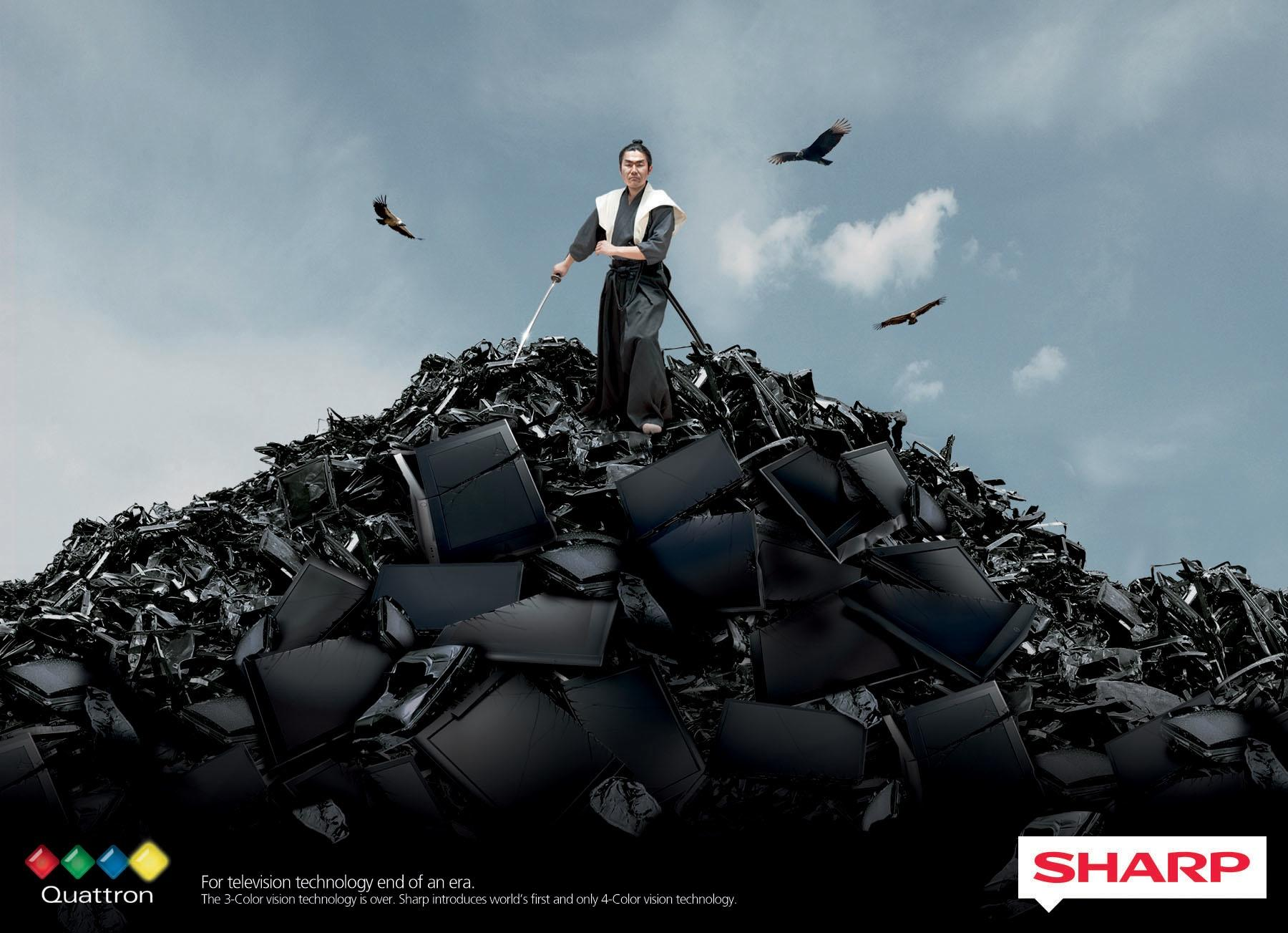 Sharp Print Ad -  End of an era