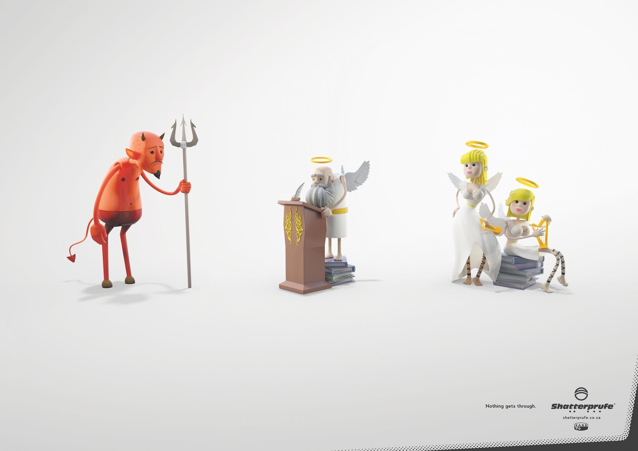 Shatterprufe Print Ad -  Devil
