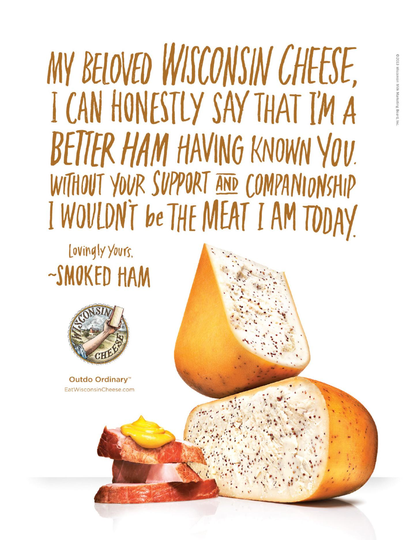 Wisconsin Cheese Print Ad -  My beloved