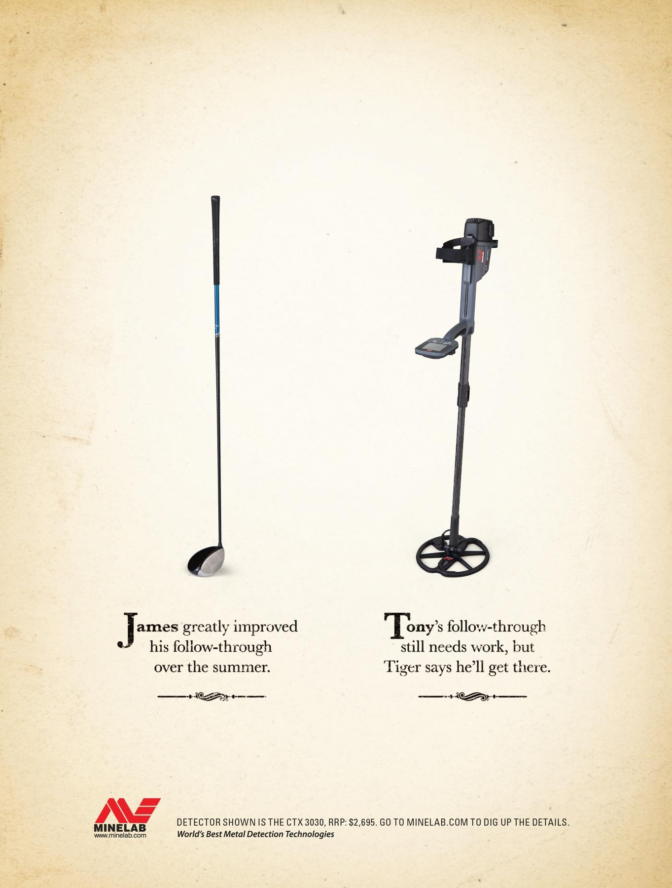 Minelab Print Ad -  Comparison, 4
