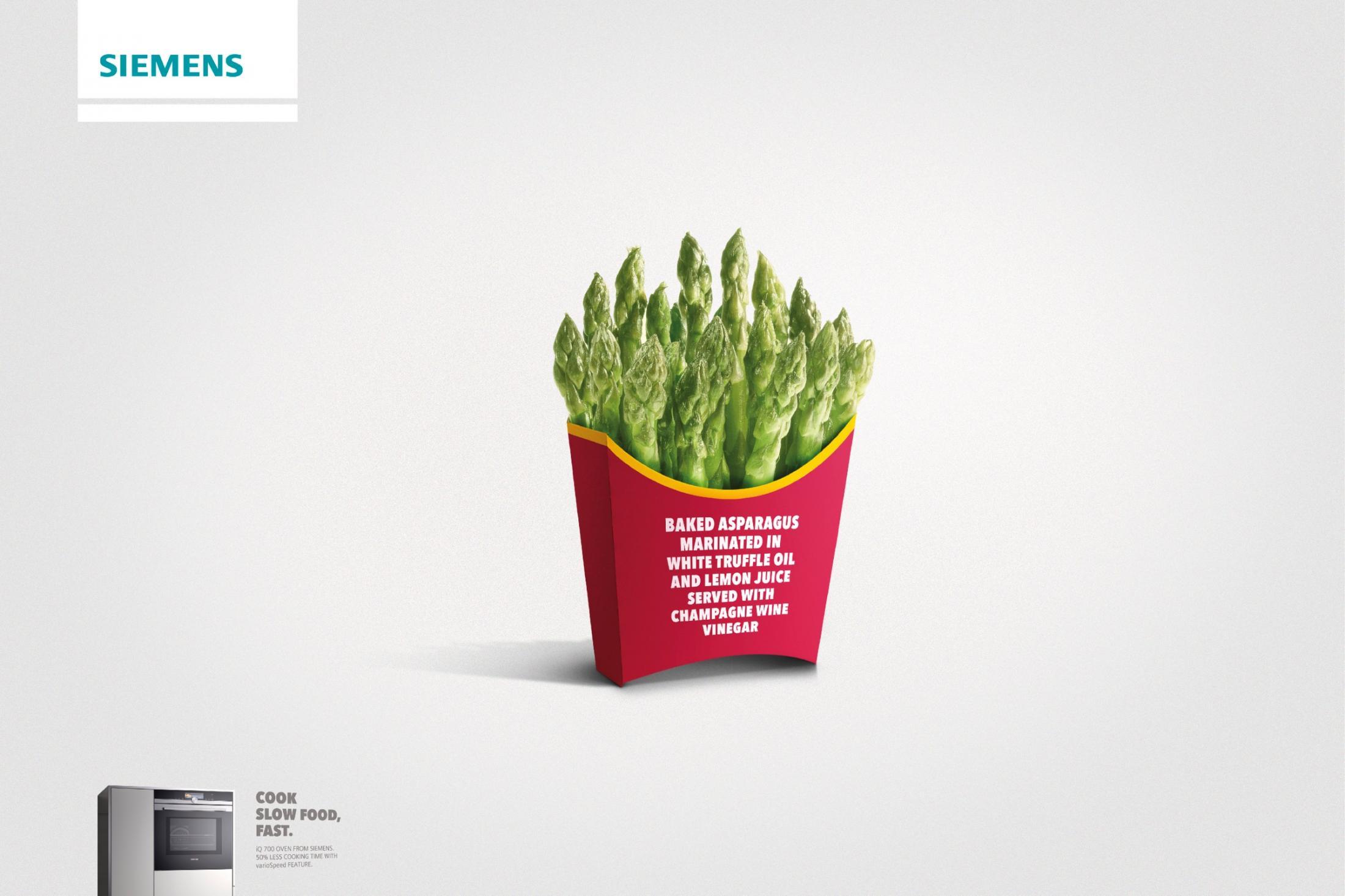 Siemens Print Ad -  Fast food - asparagus