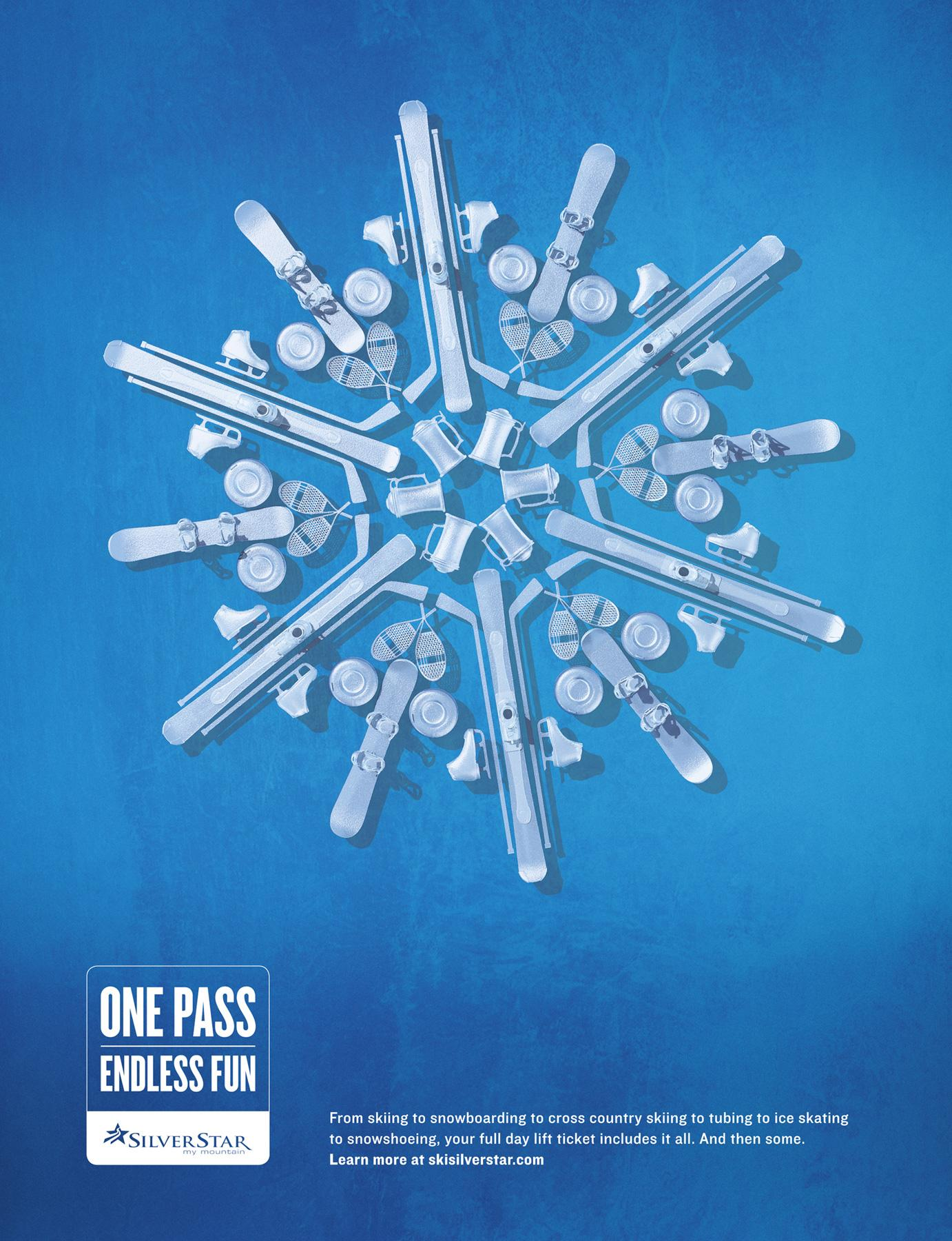 Silver Star Mountain Resort Print Ad -  Blue