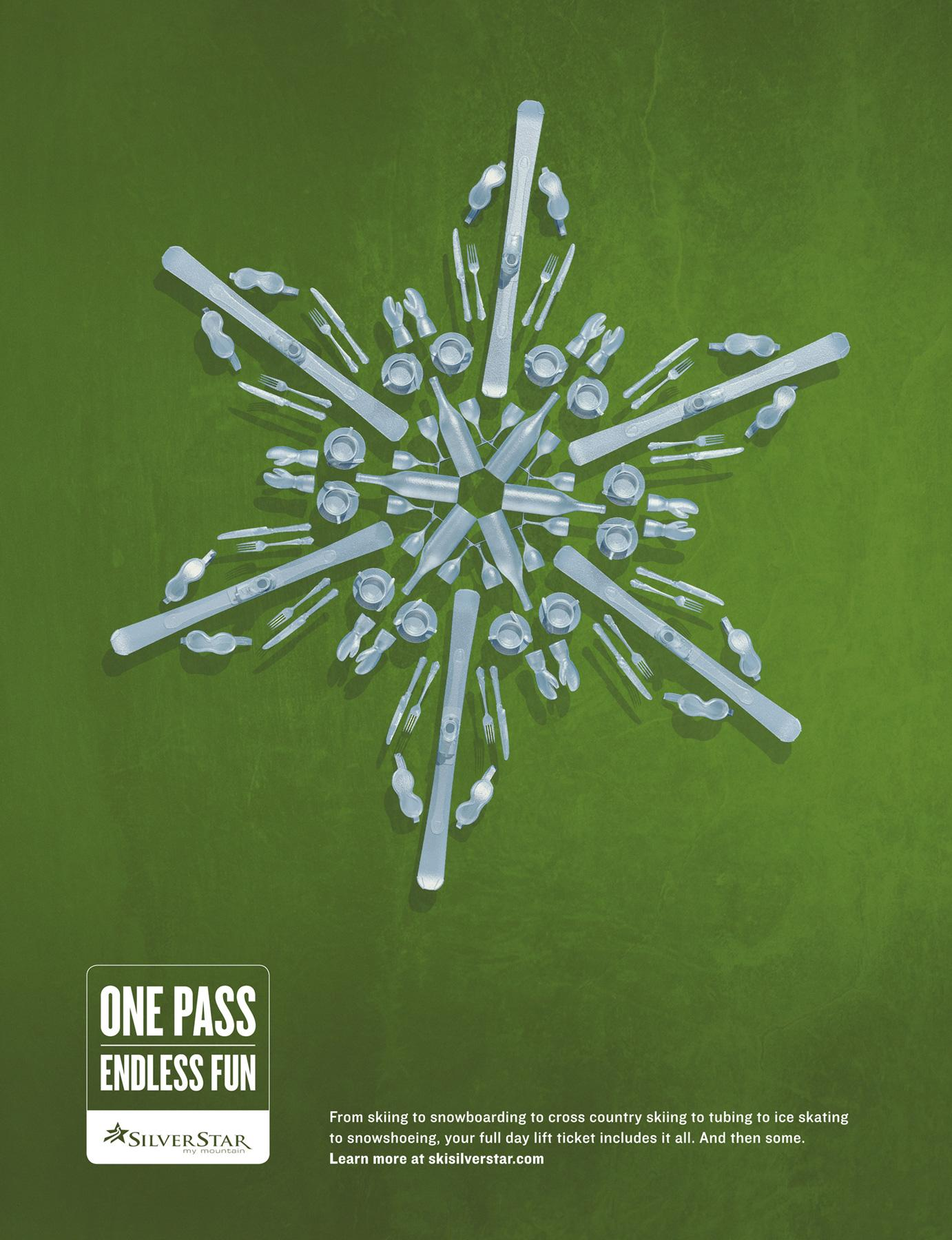 Silver Star Mountain Resort Print Ad -  Green