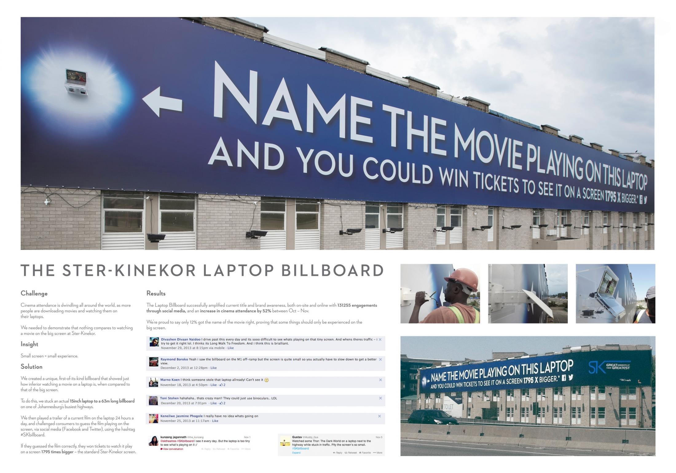 Ster-Kinekor Outdoor Ad -  The Laptop Billboard