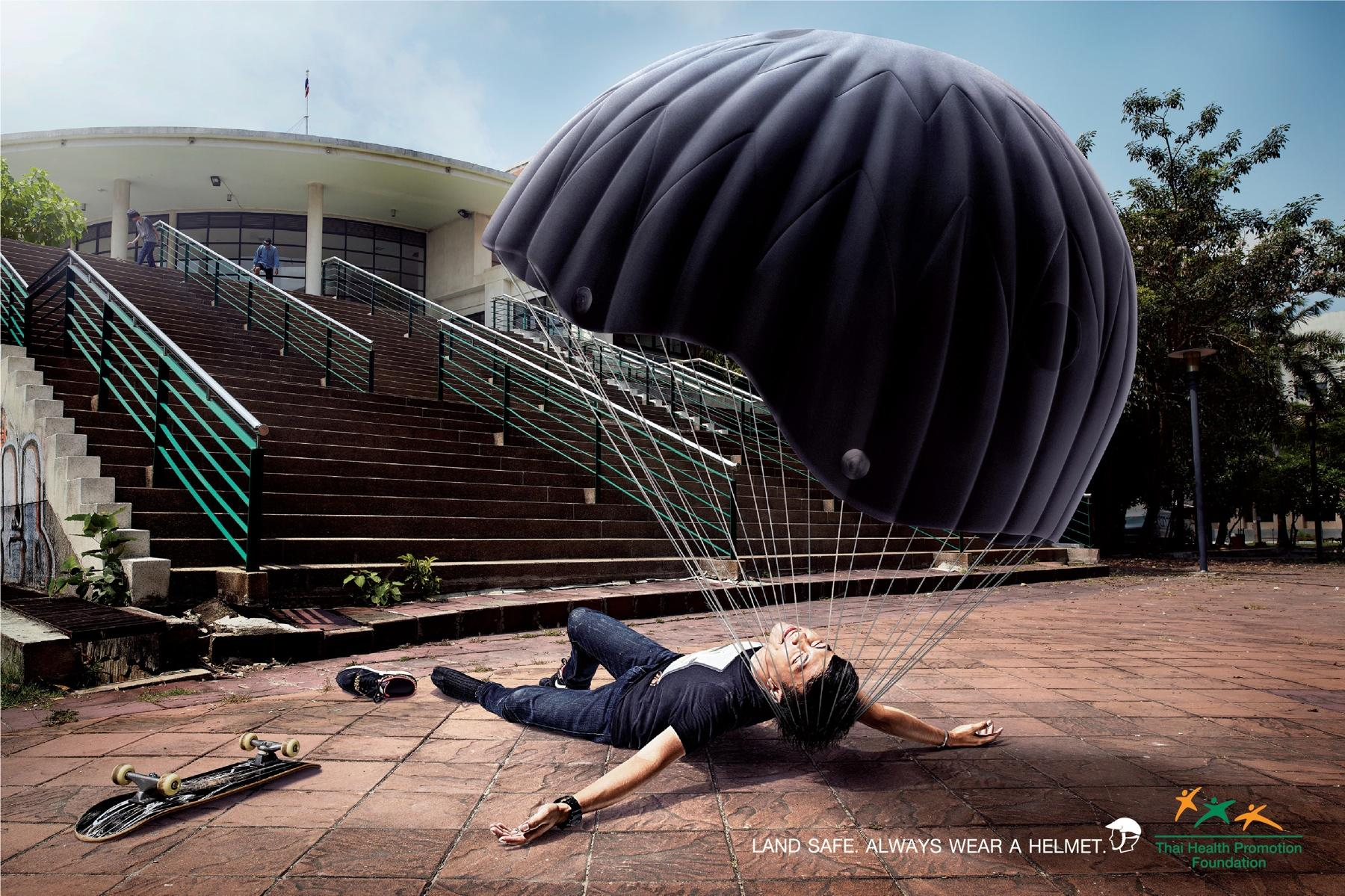Thai Health Promotion Foundation Print Ad -  Skateboard