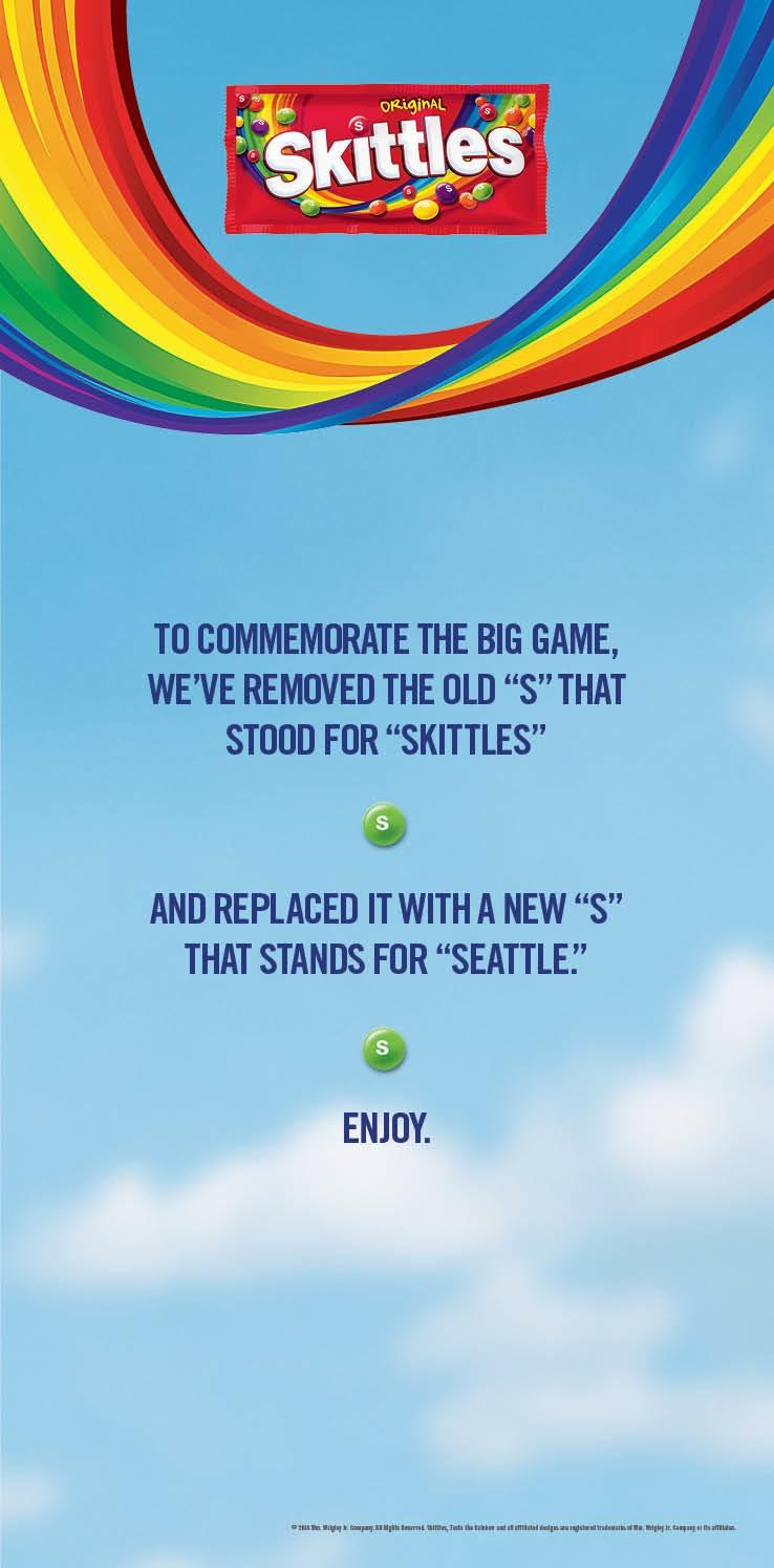 Skittles Print Ad -  Replaced the S in Skittles