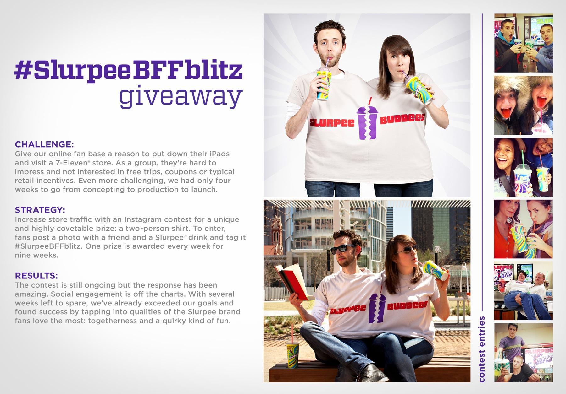 Slurpee Ambient Ad -   #SlurpeeBFFbitz Giveaway