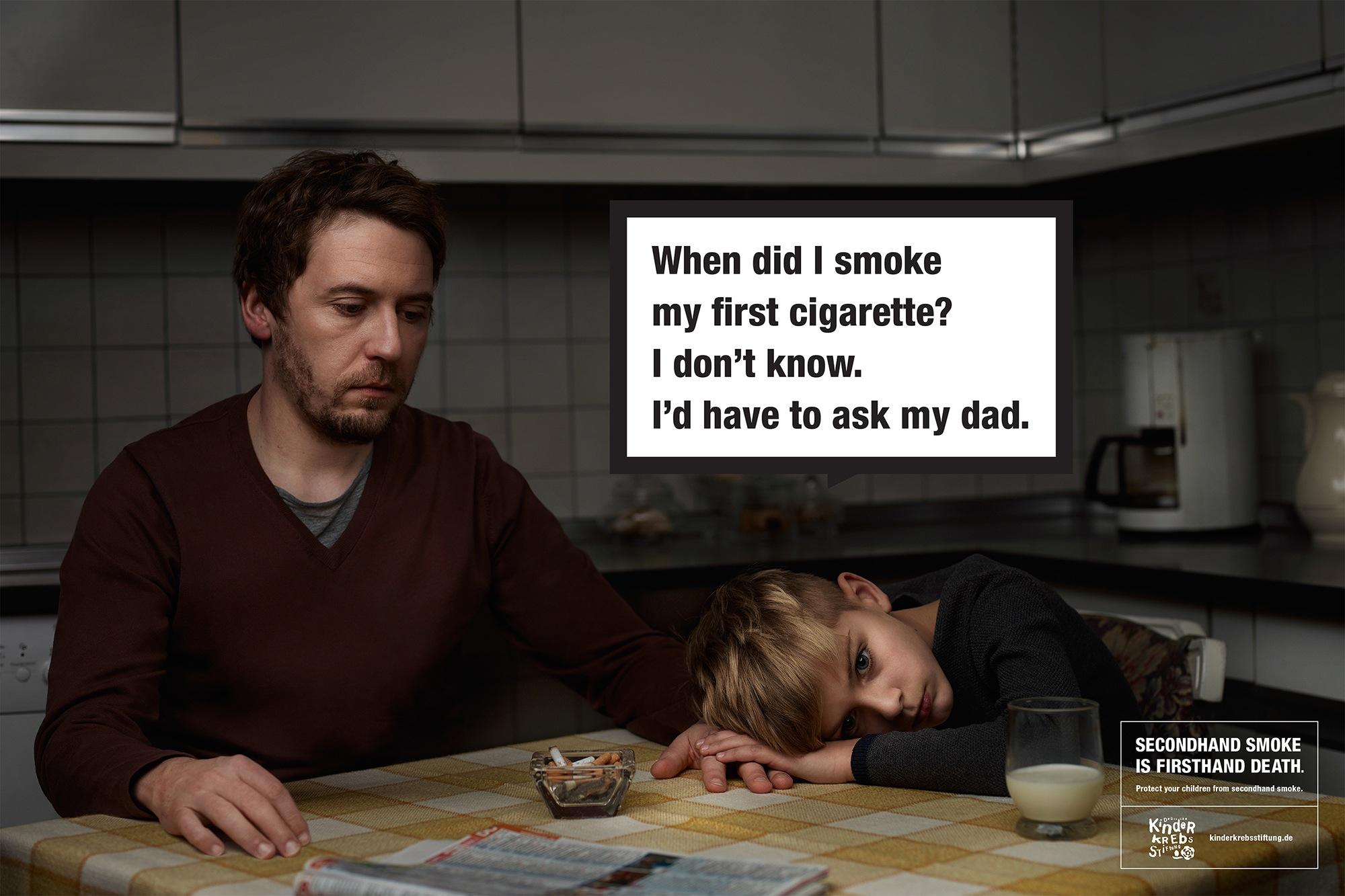 Deutsche Kinderkrebsstiftung Outdoor Ad -  Secondhand smoke, 2