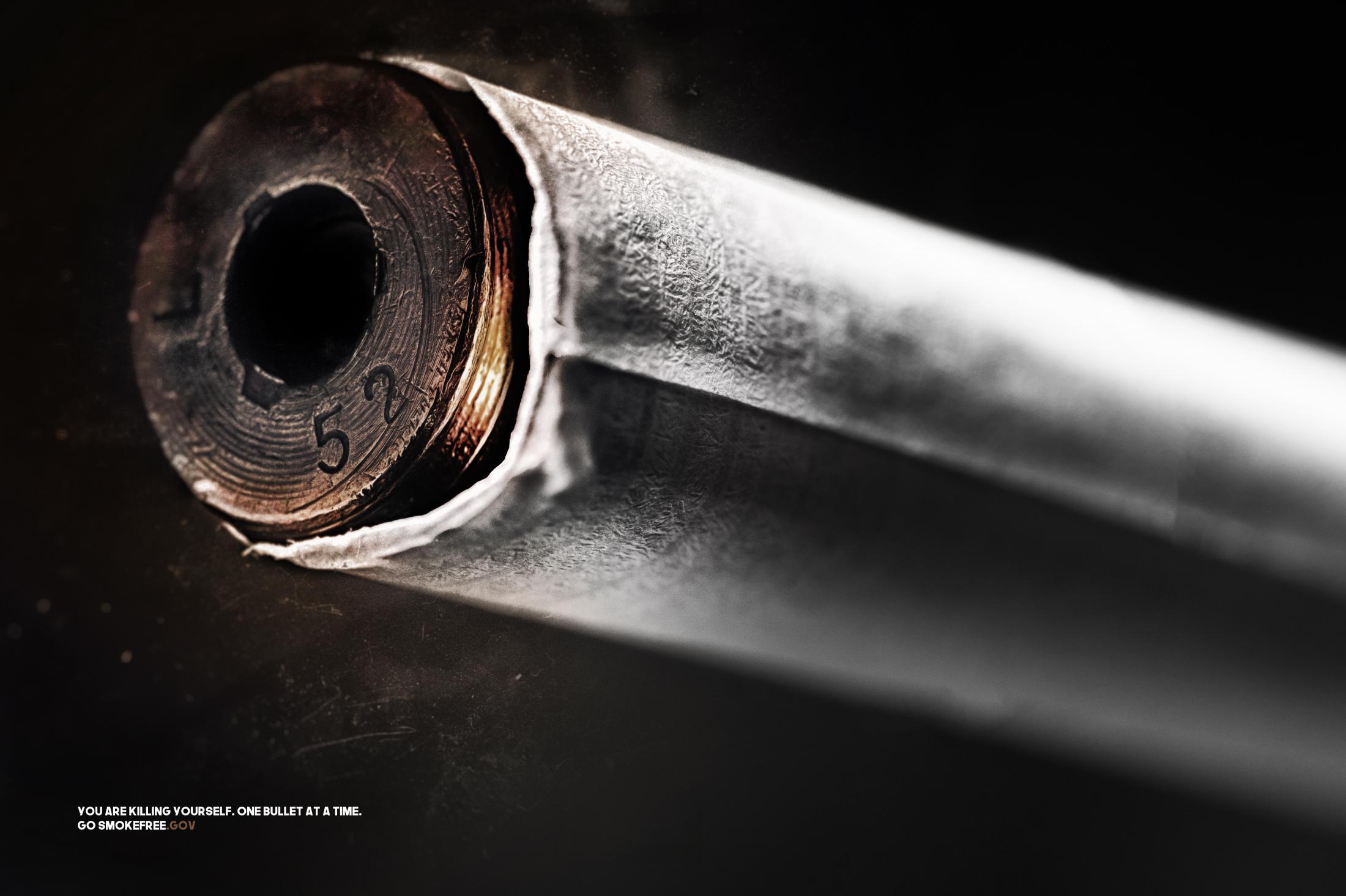 Smokefree.gov Print Ad - The Bullet
