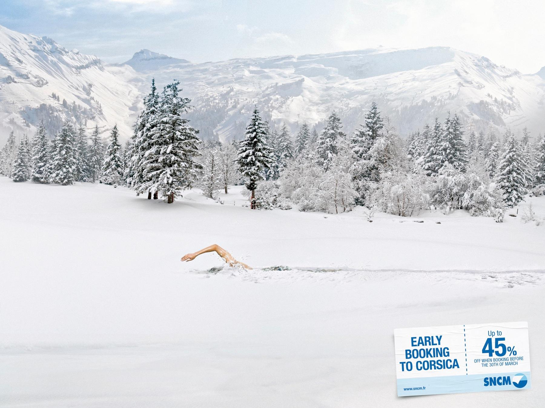 SNCM Print Ad -  The swimmer