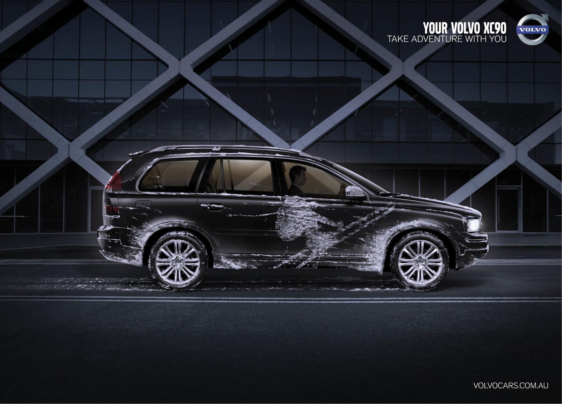 Volvo Print Ad -  Snow