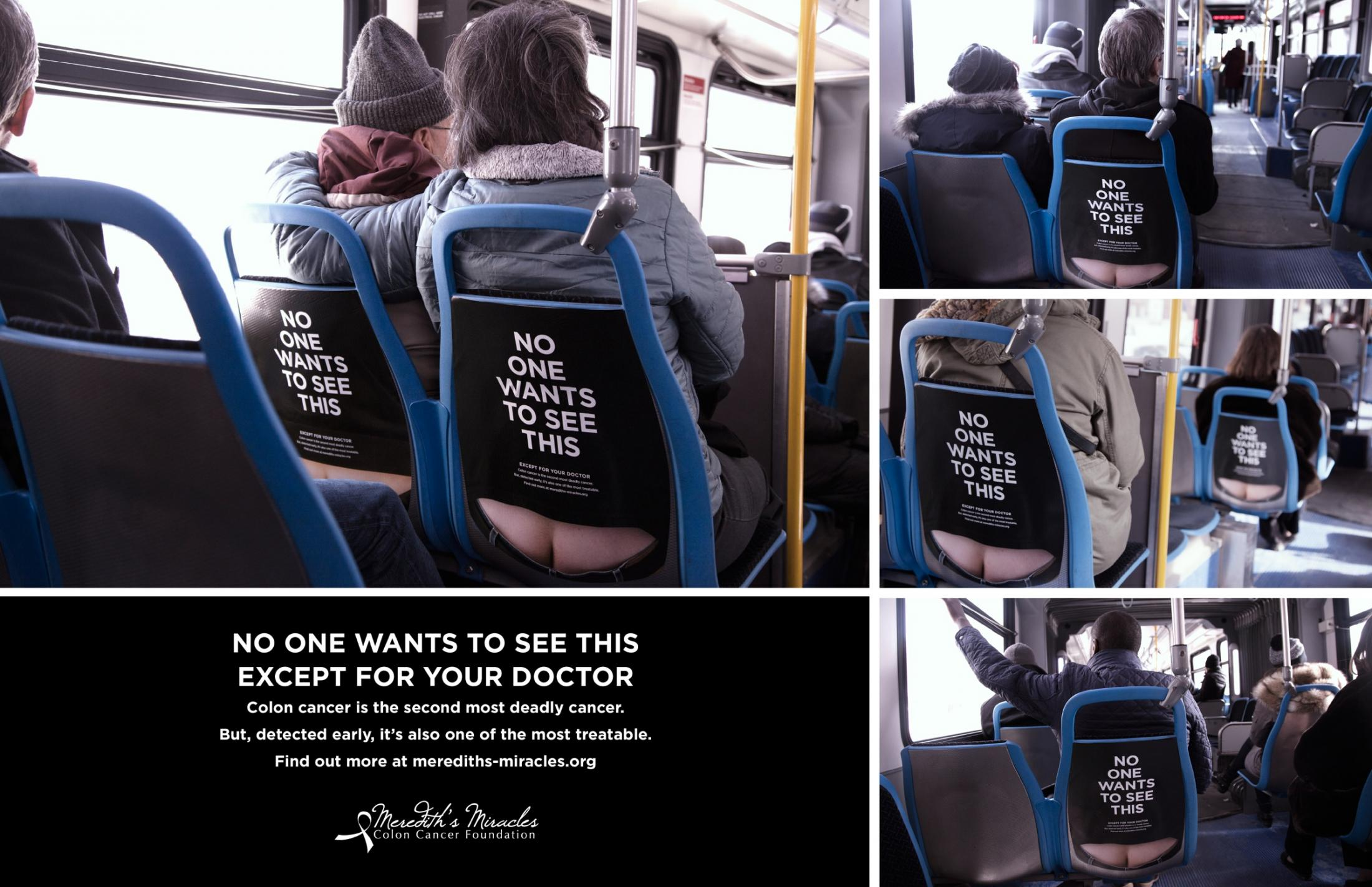 Meredith's Miracles Colon Cancer Foundation Ambient Ad -  Seat