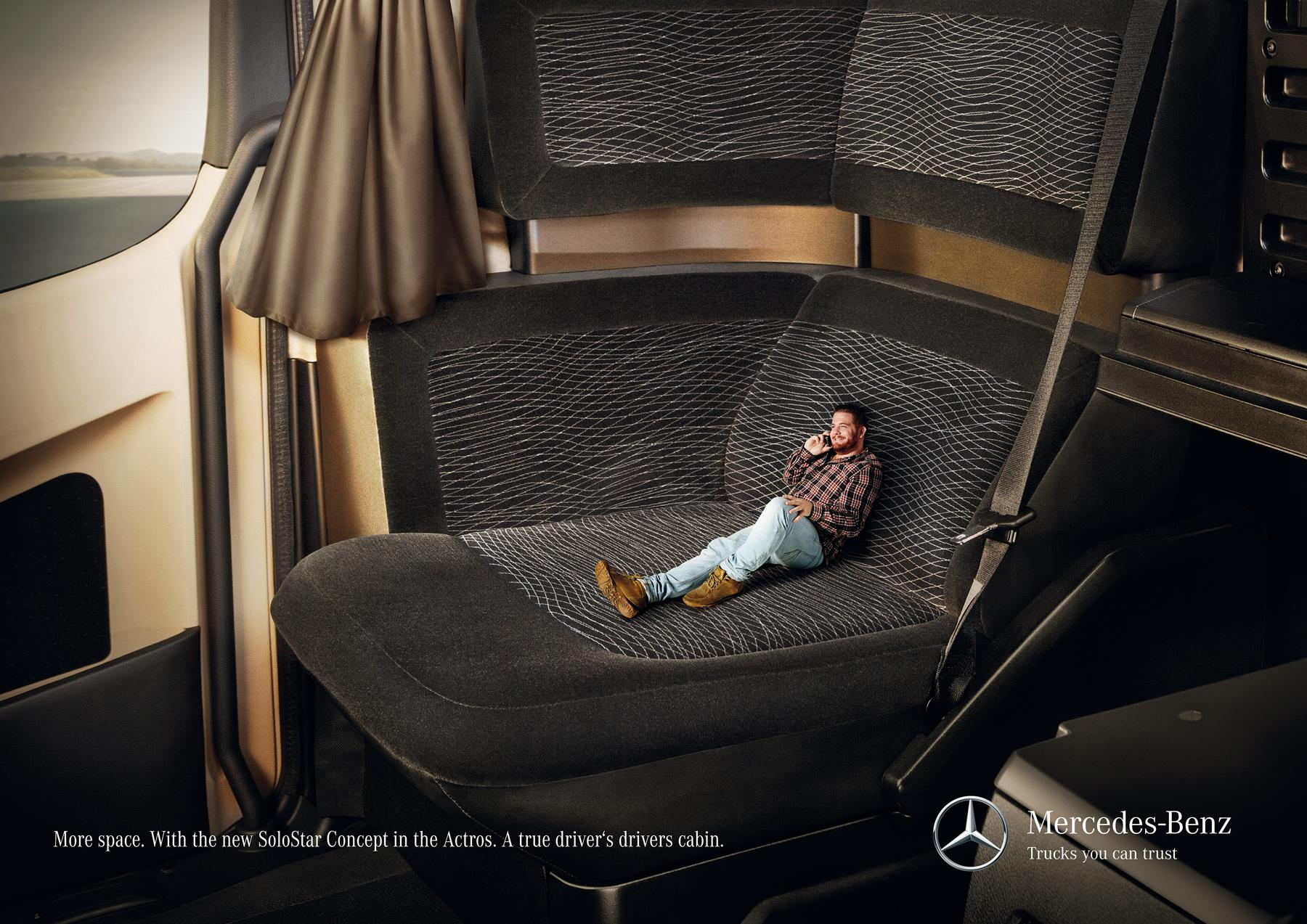 Mercedes Print Ad -  More space, 2