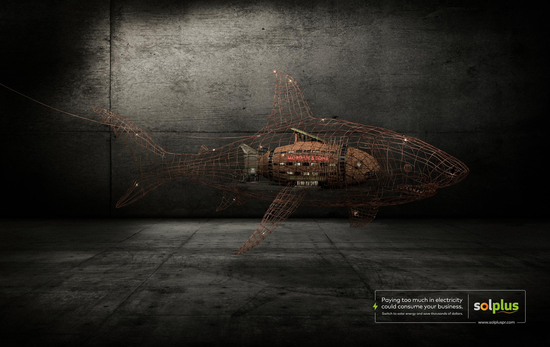 Solplus Print Ad - Electric Shark
