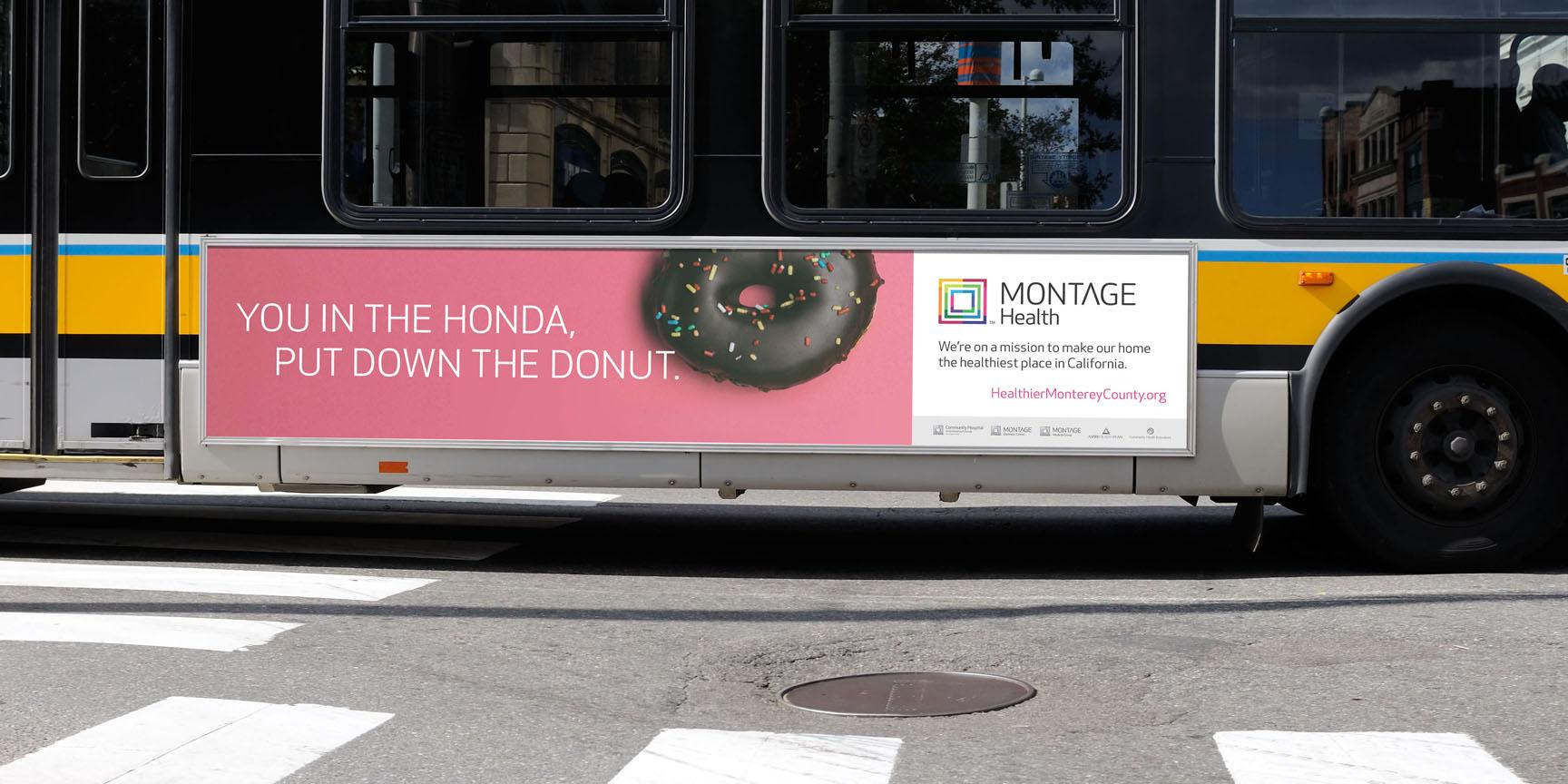 Montage Health Outdoor Ad - Donut