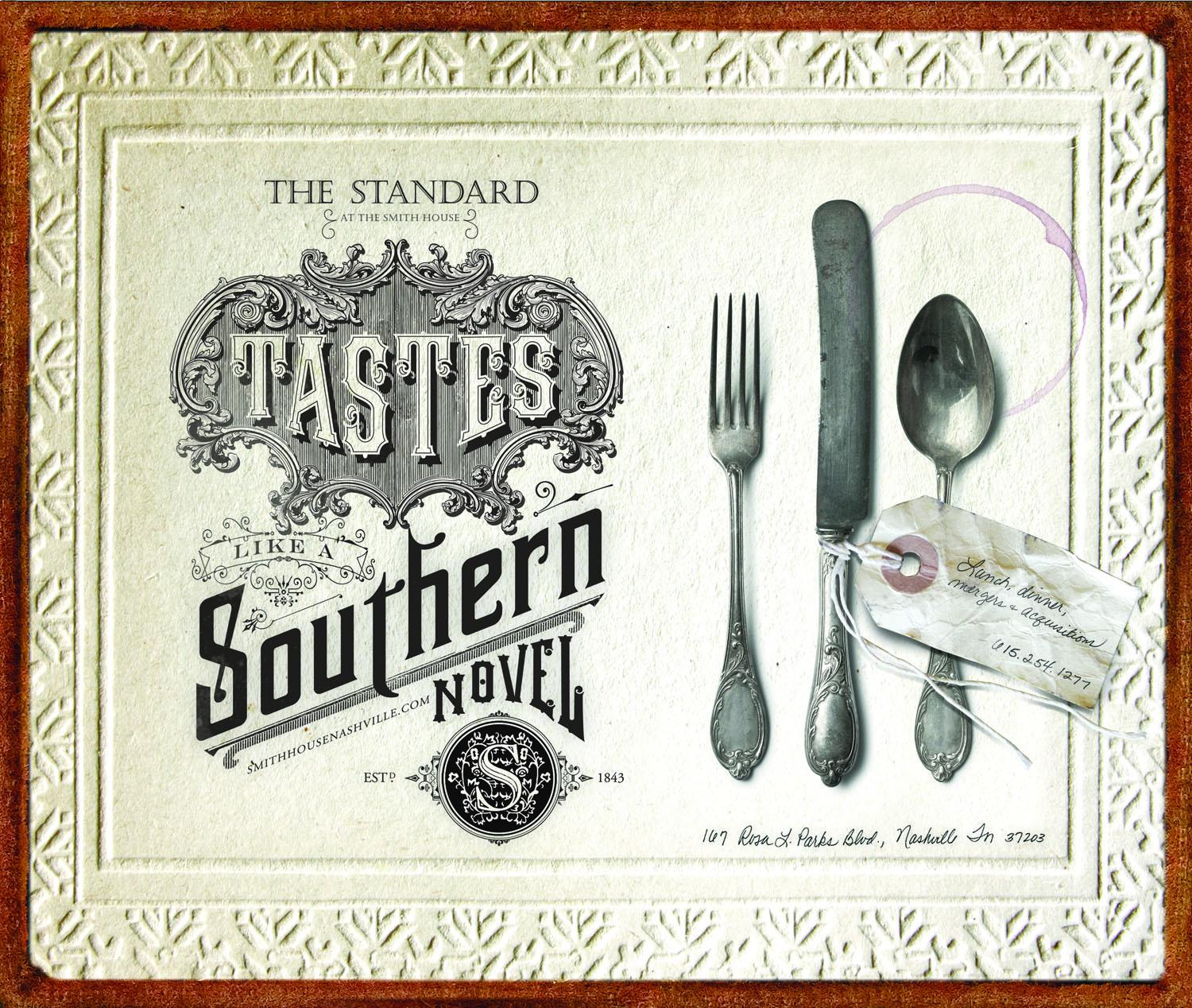 The Standard Print Ad -  Southern novel