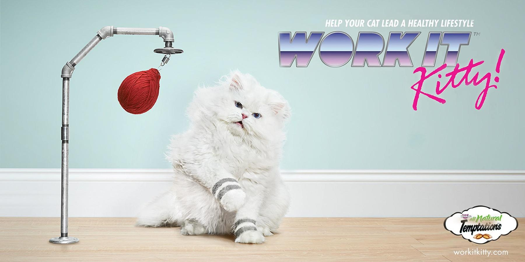 Temptations Print Ad -  Work it Kitty!, Speed bag