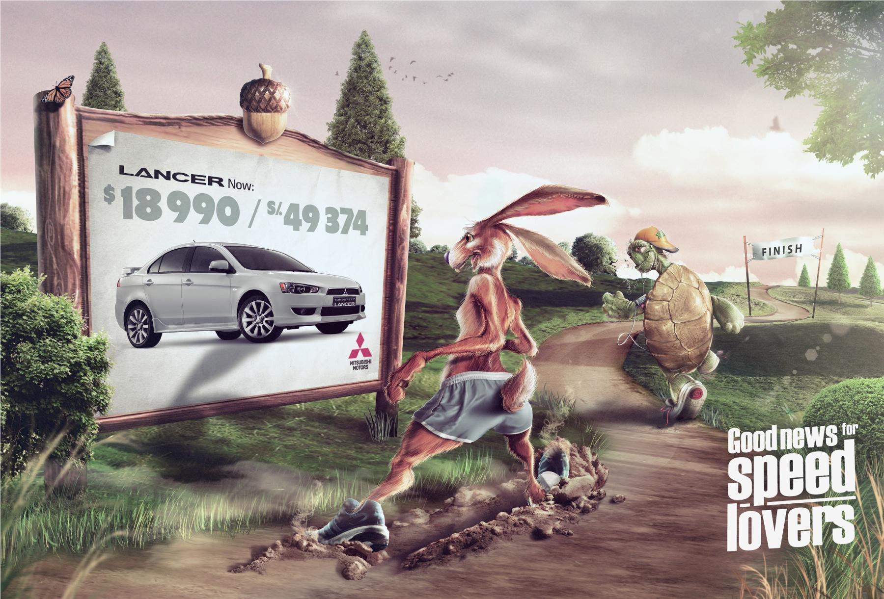 Mitsubishi Print Ad -  Hare