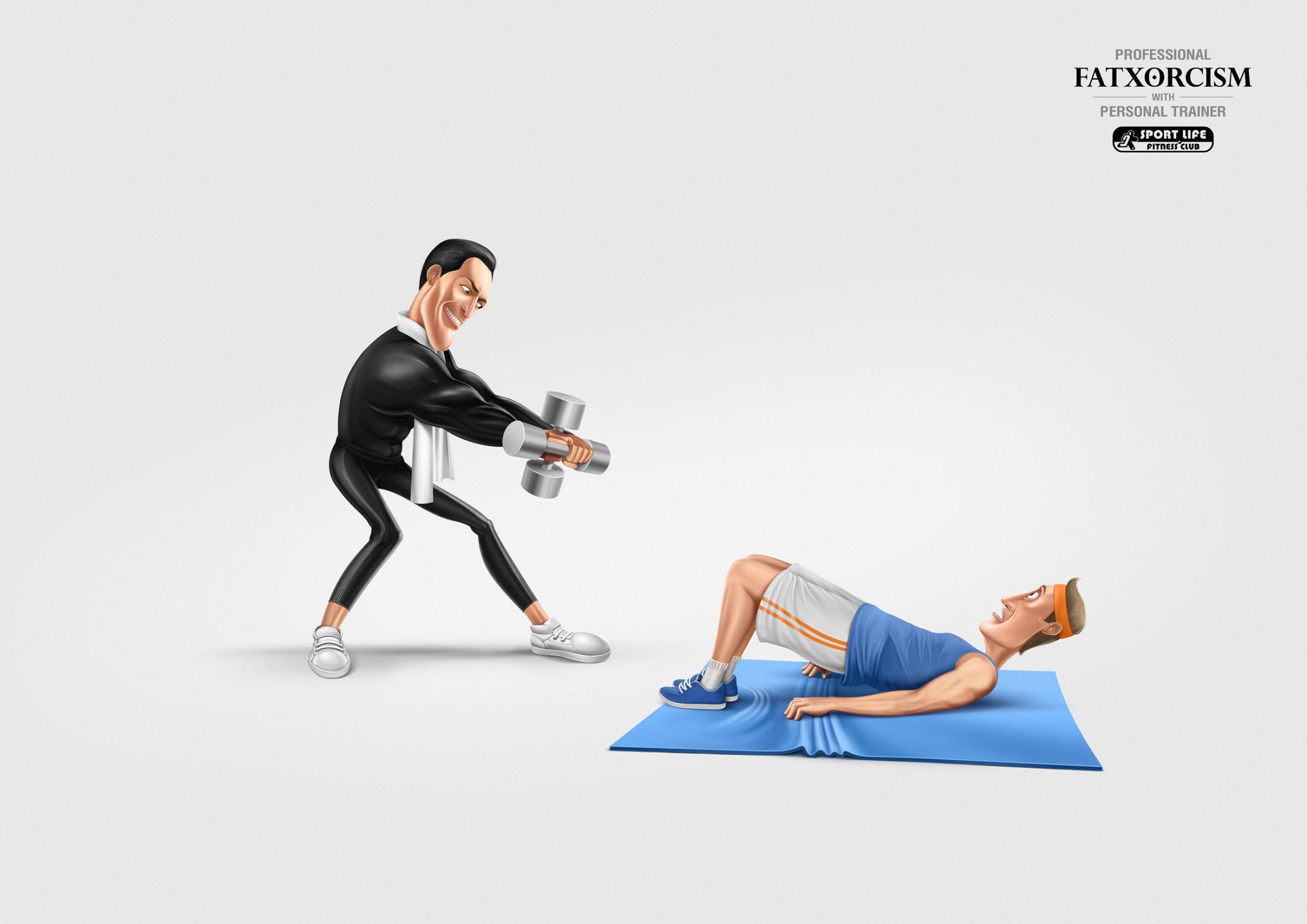 Sport Life Fitness Club Print Ad - Fatxorcism
