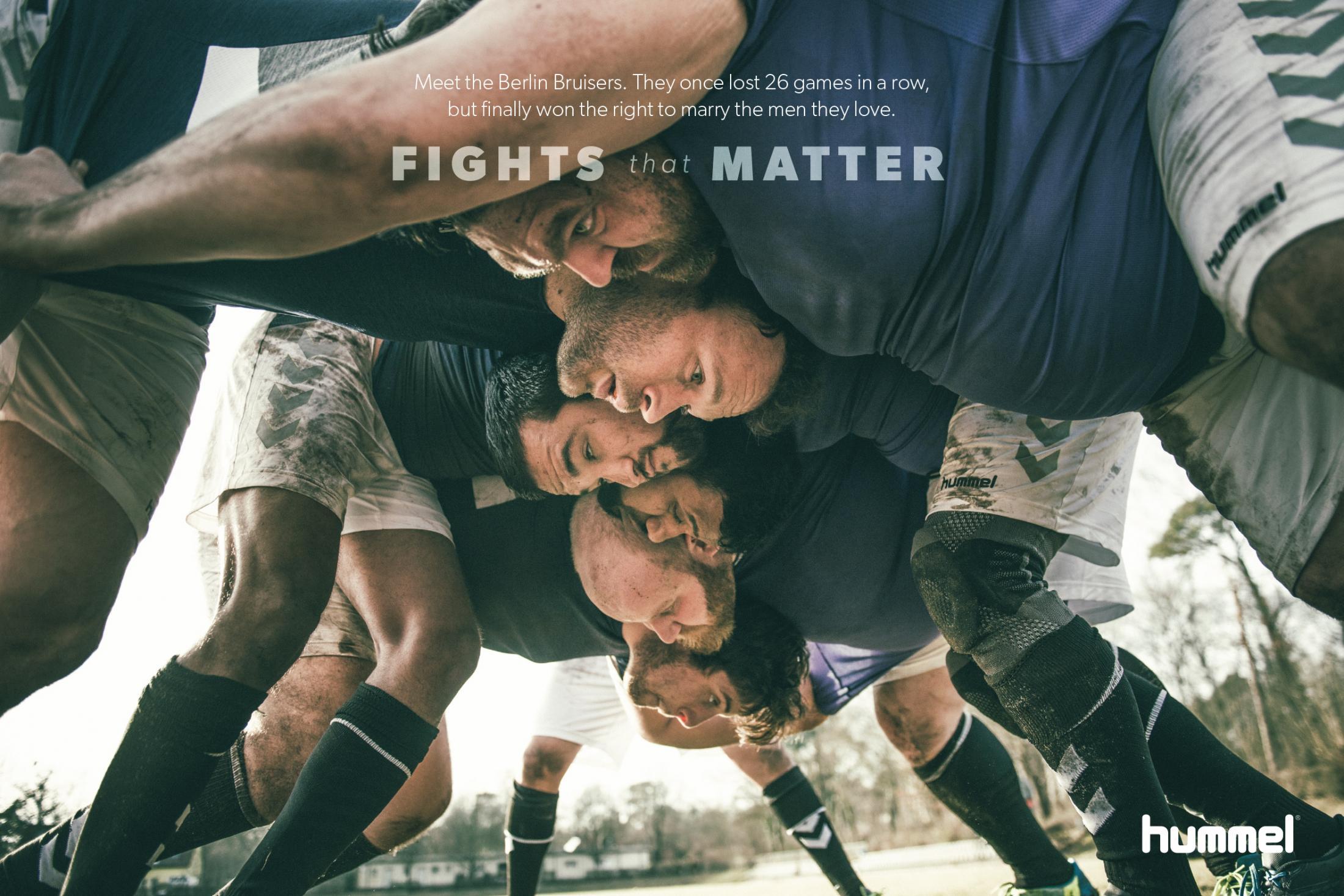 Hummel Print Ad - Fights That Matter - Bruisers