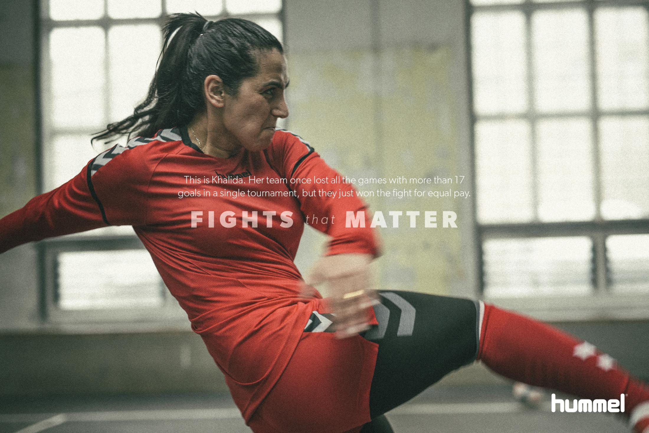 Hummel Print Ad - Fights That Matter - Khalida