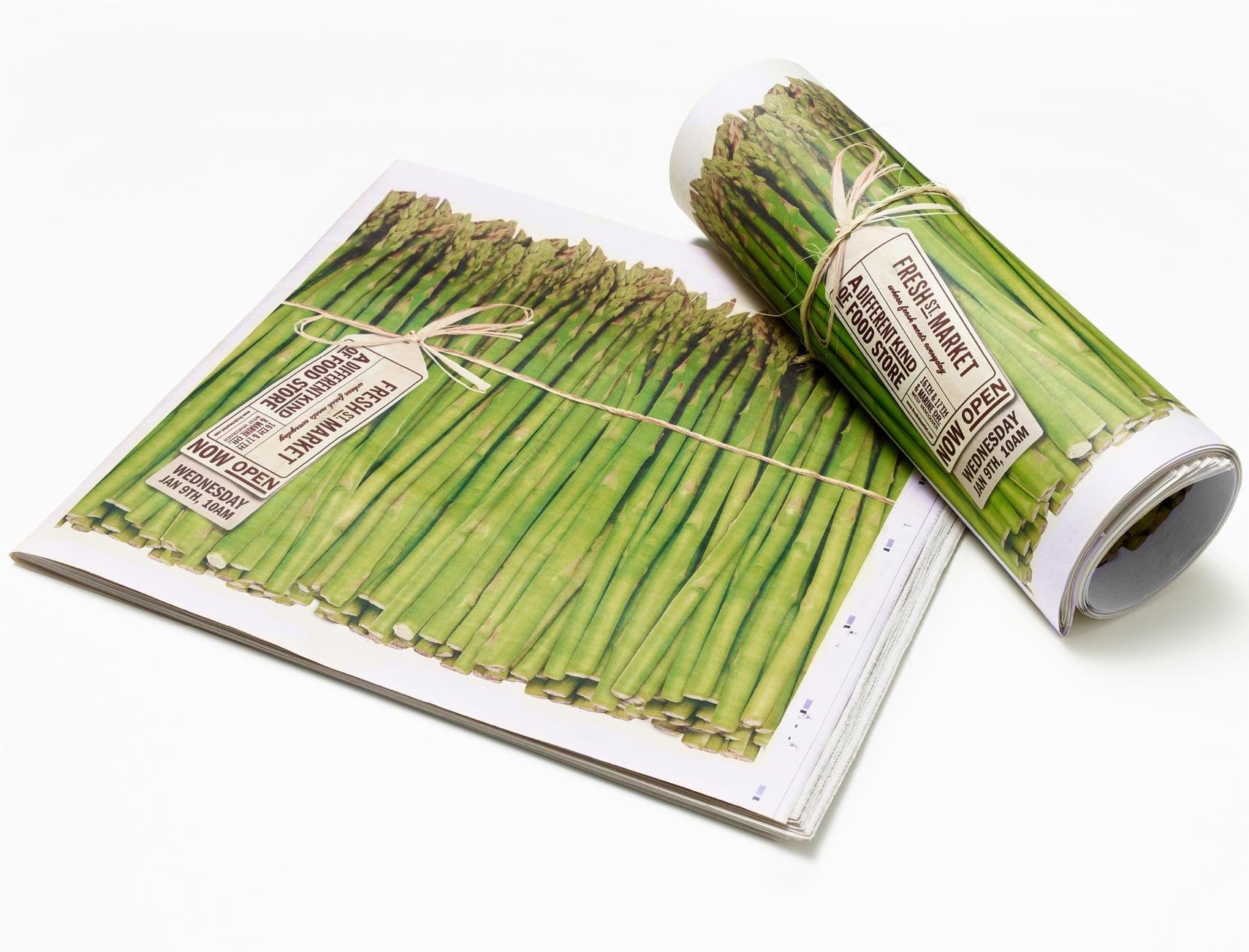 Fresh St. Market Print Ad -  Fresh St. Asparagus Wrap
