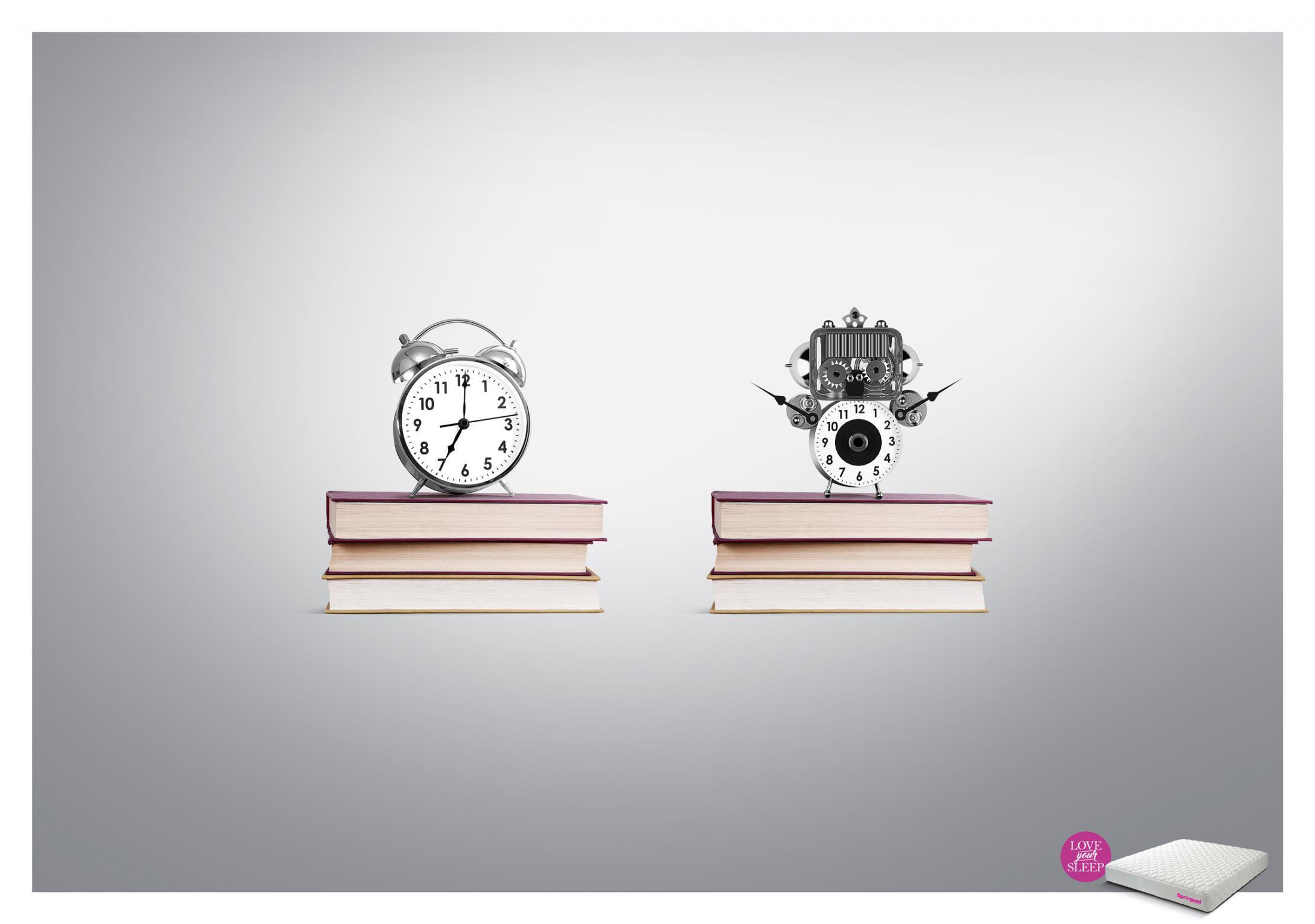 Springwel Print Ad - Love your Sleep - Alarm Clock