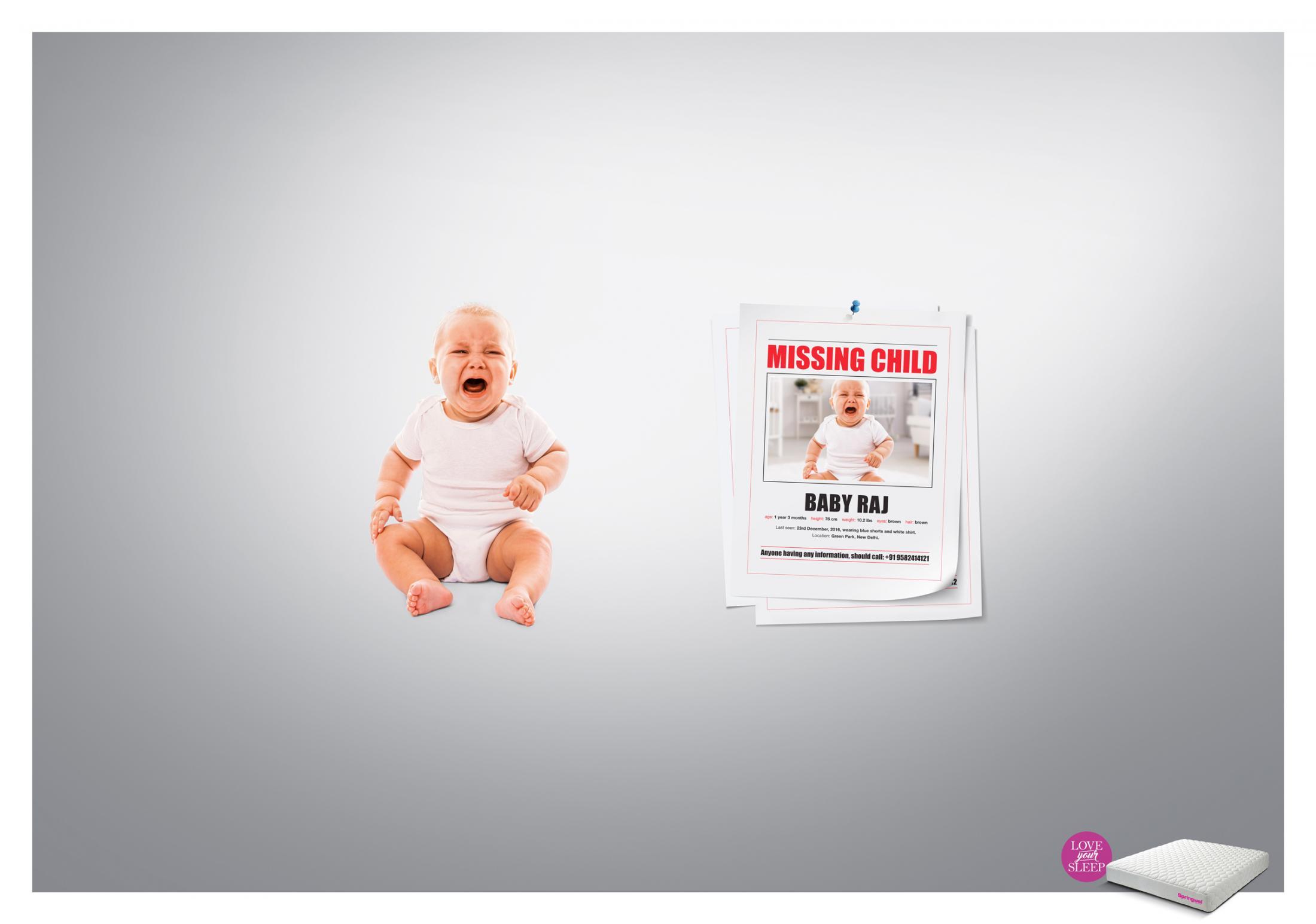 Springwel Print Ad - Love your Sleep - Baby