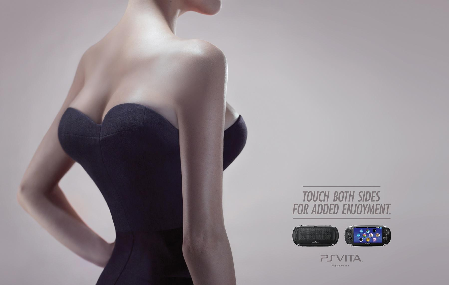 PlayStation Print Ad -  Touch both sides