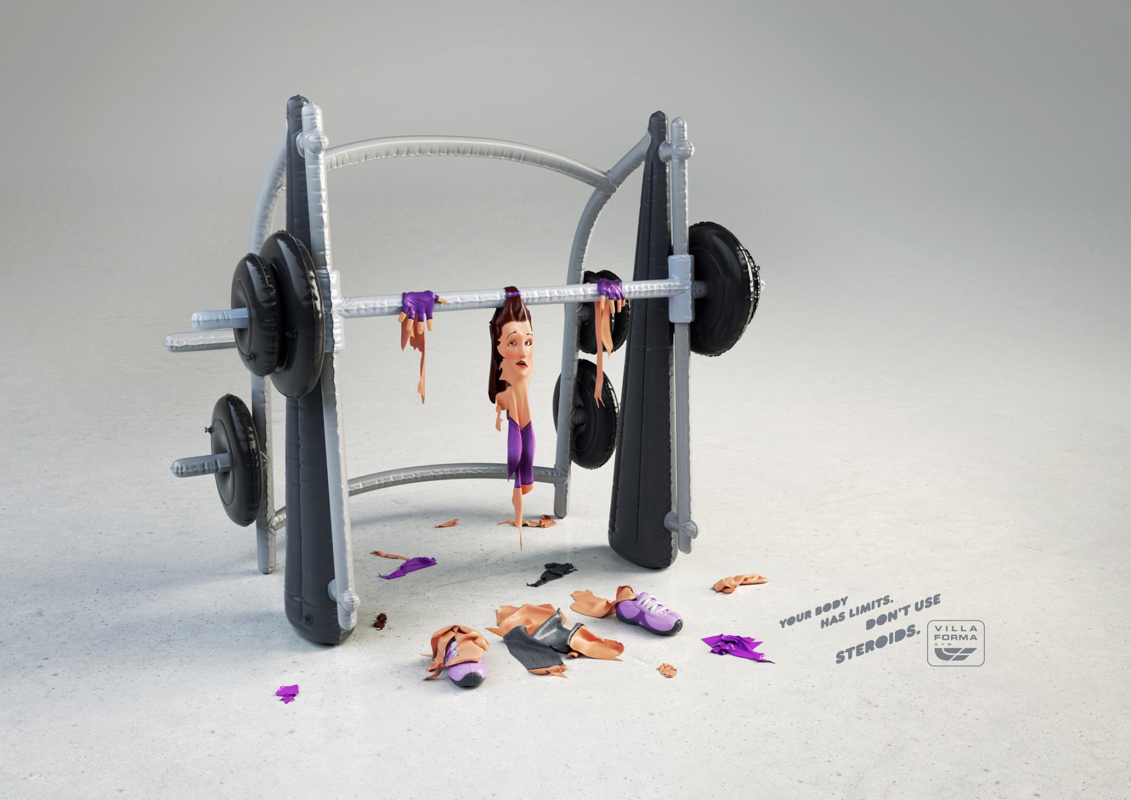Villa Forma Gym Print Ad -  Squat