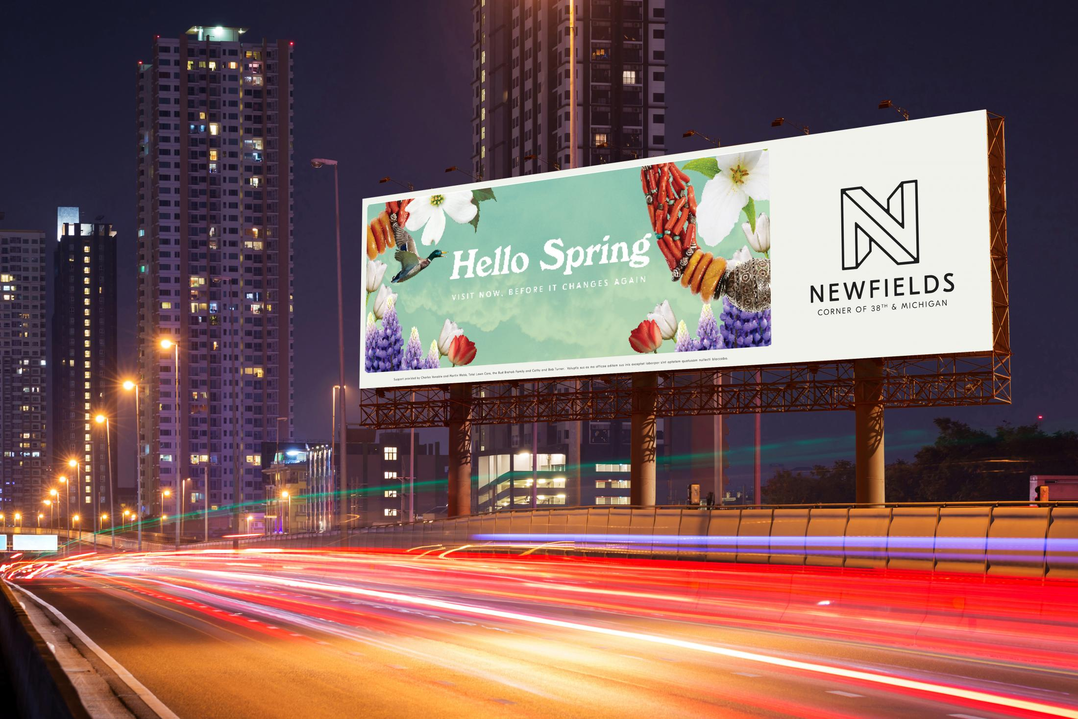 Newfields Integrated Ad - Hello Spring