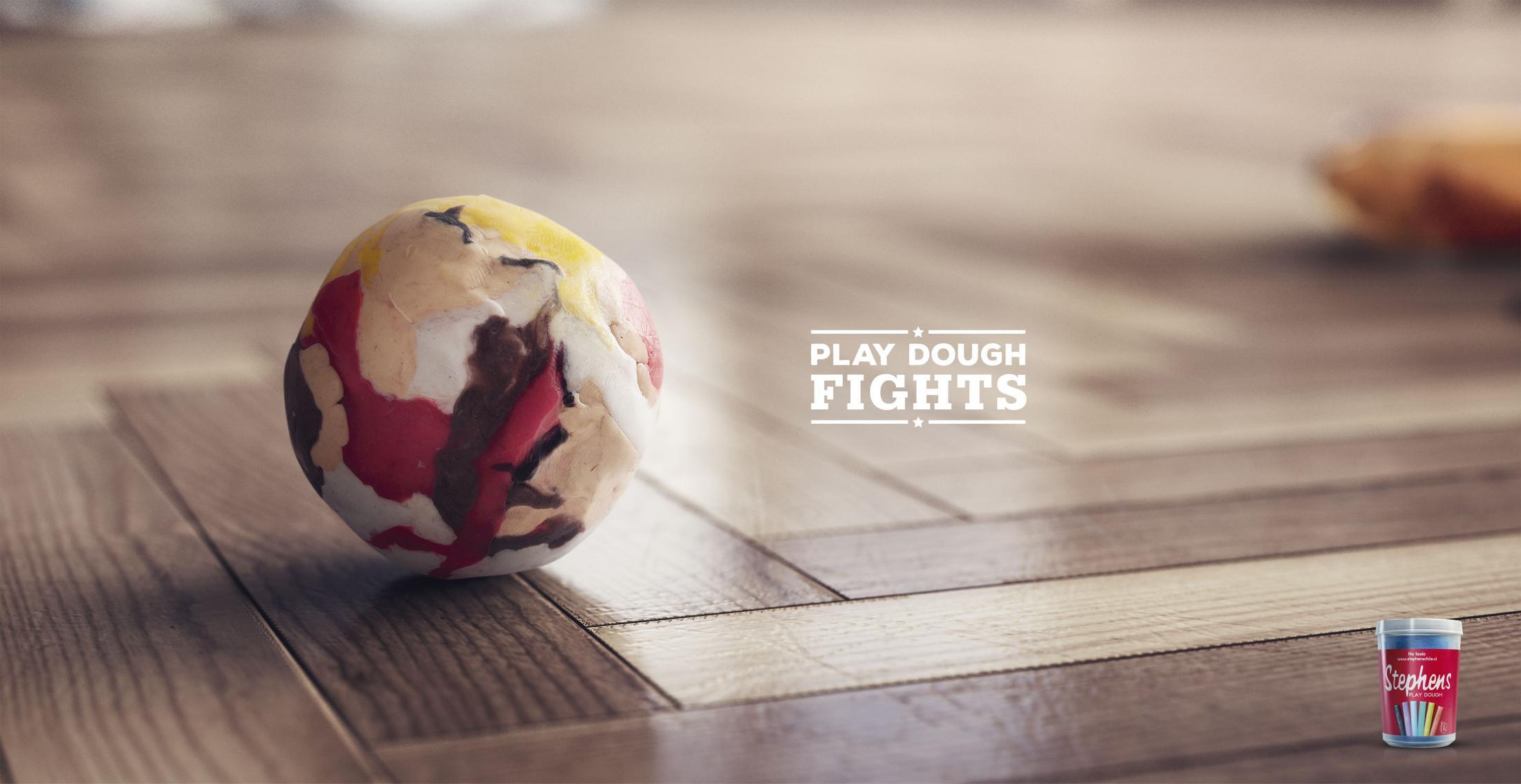 Stephens Print Ad - Play Dough Fights, 1