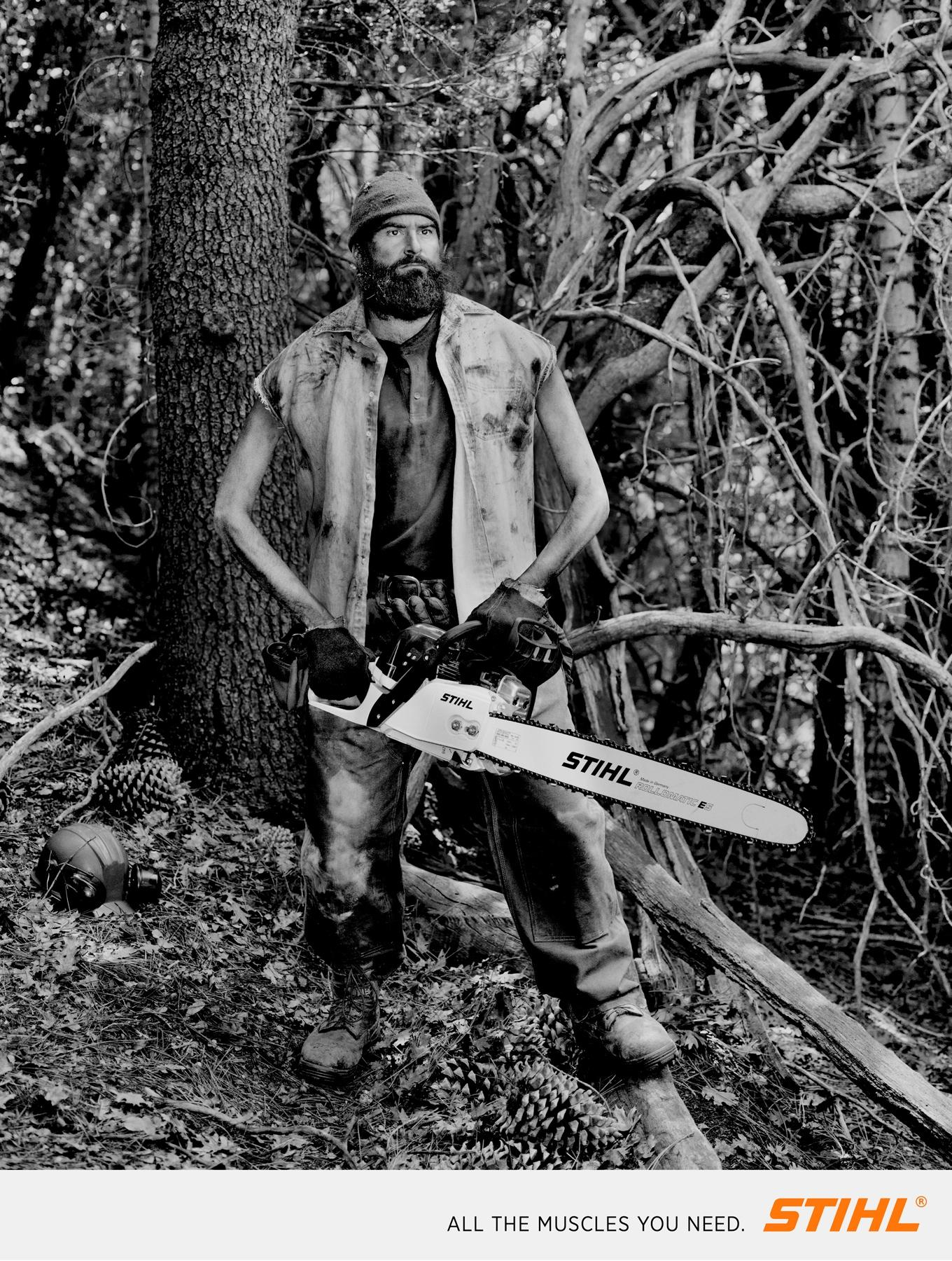 Stihl Print Ad -  Lumberjacks, 1