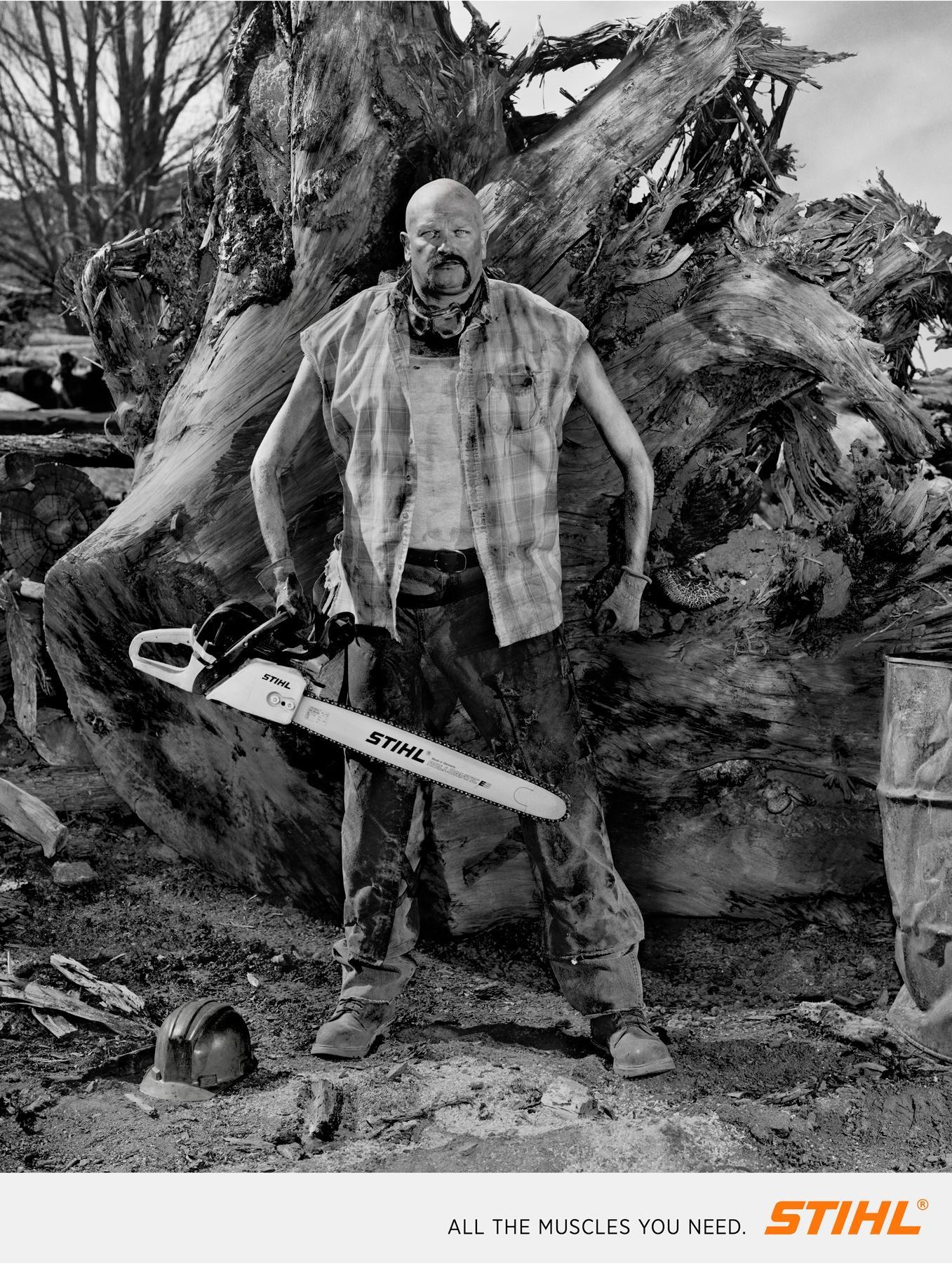 Stihl Print Ad -  Lumberjacks, 2