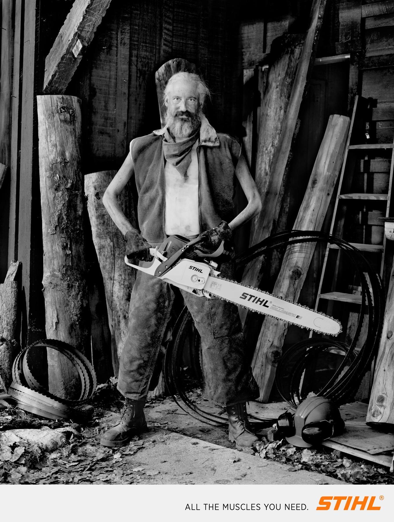 Stihl Print Ad -  Lumberjacks, 3