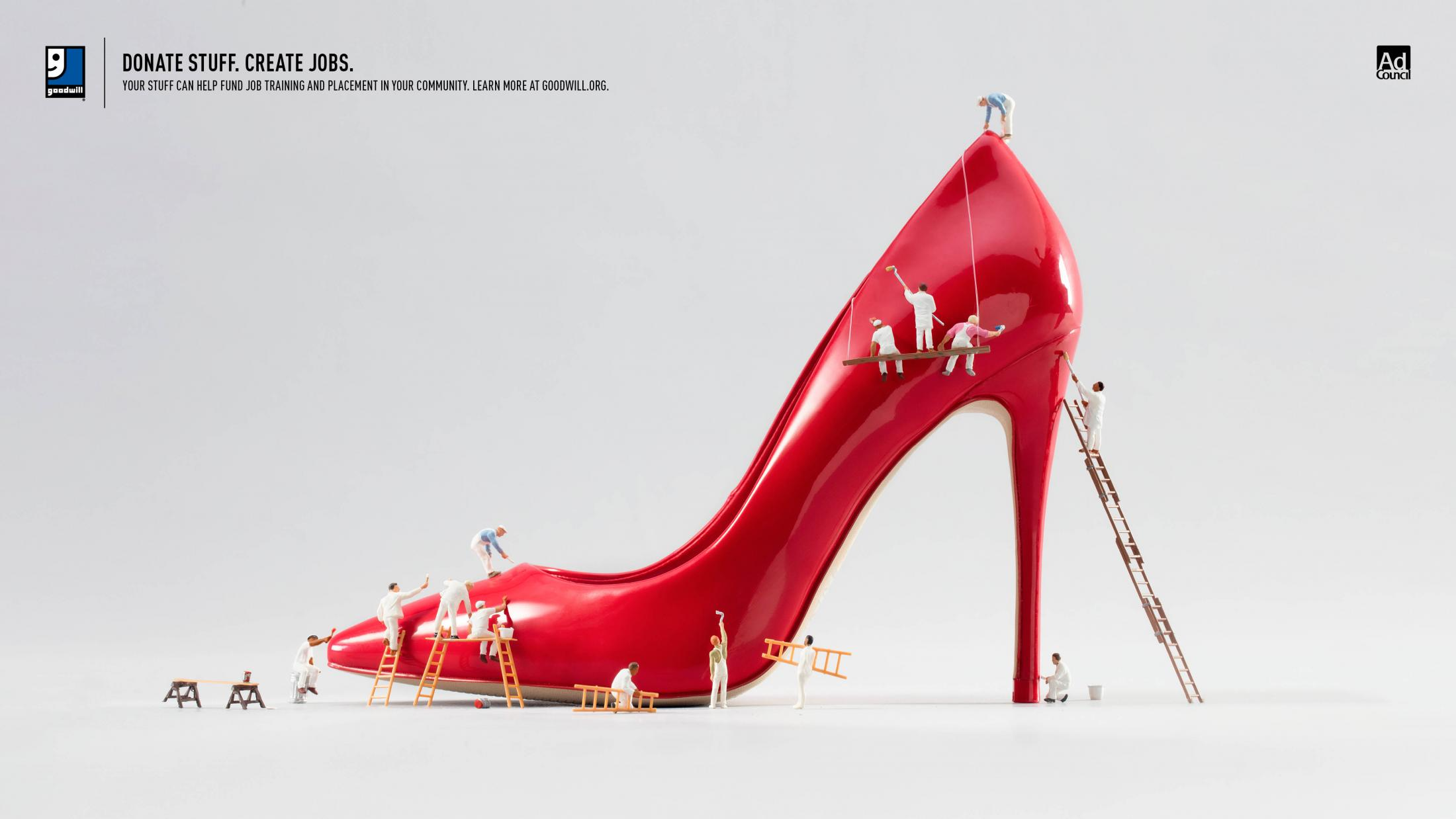 Goodwill Print Ad - Stiletto