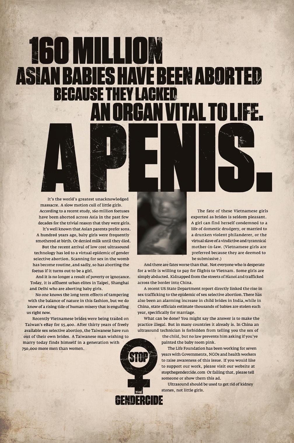 The Life Foundation Print Ad -  160 million