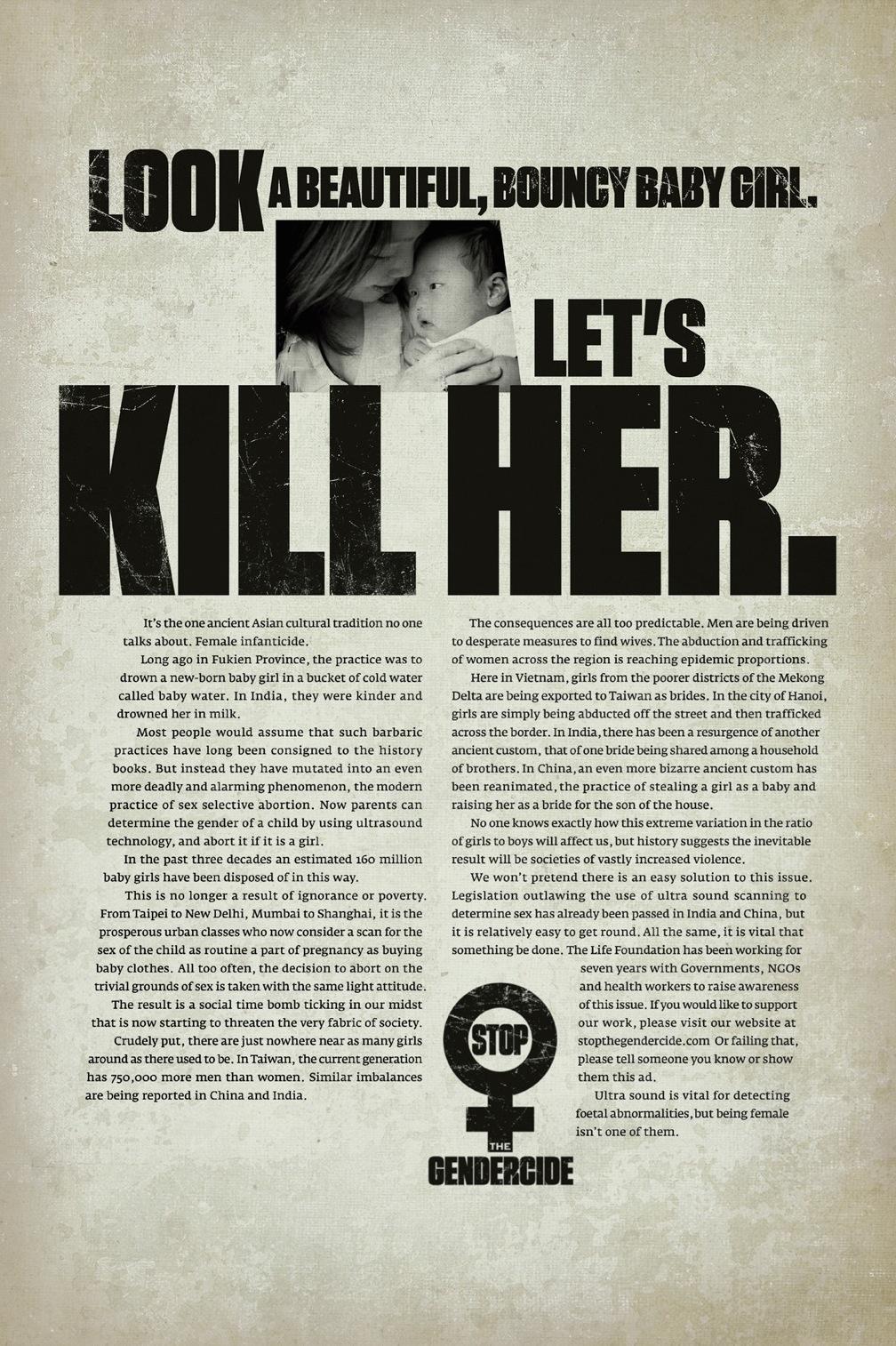 The Life Foundation Print Ad -  Kill her