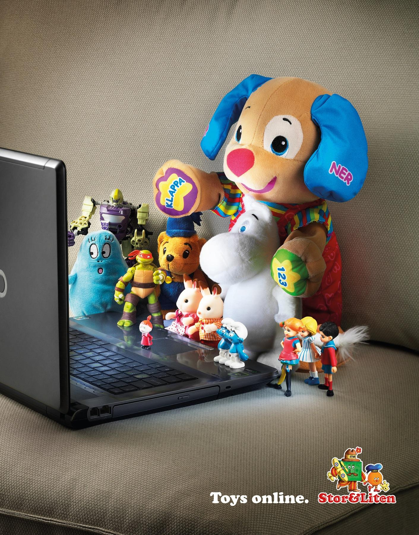 Stor&Liten Print Ad -  Toys online