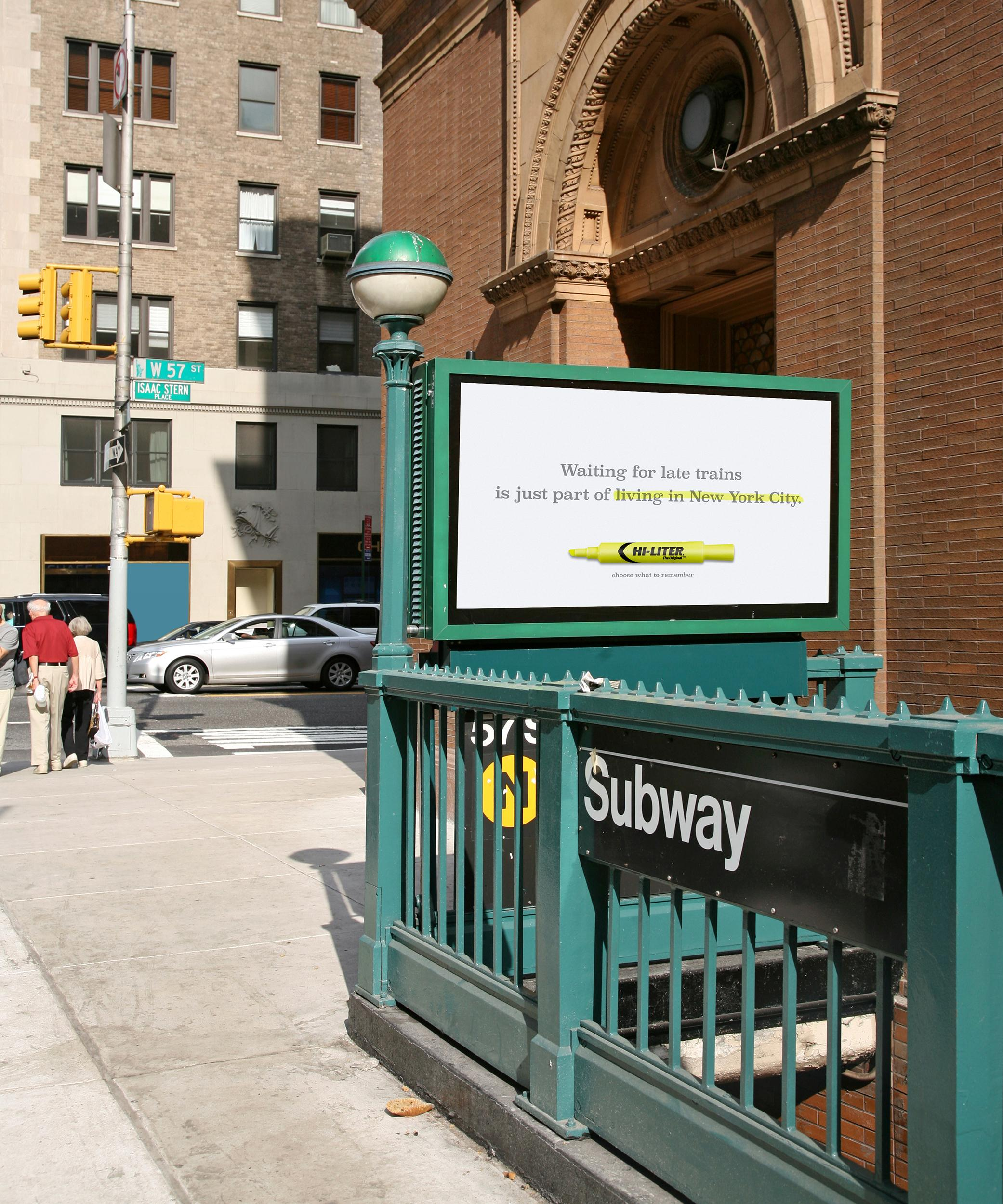 Hi-Liter Outdoor Ad - Subway Ad