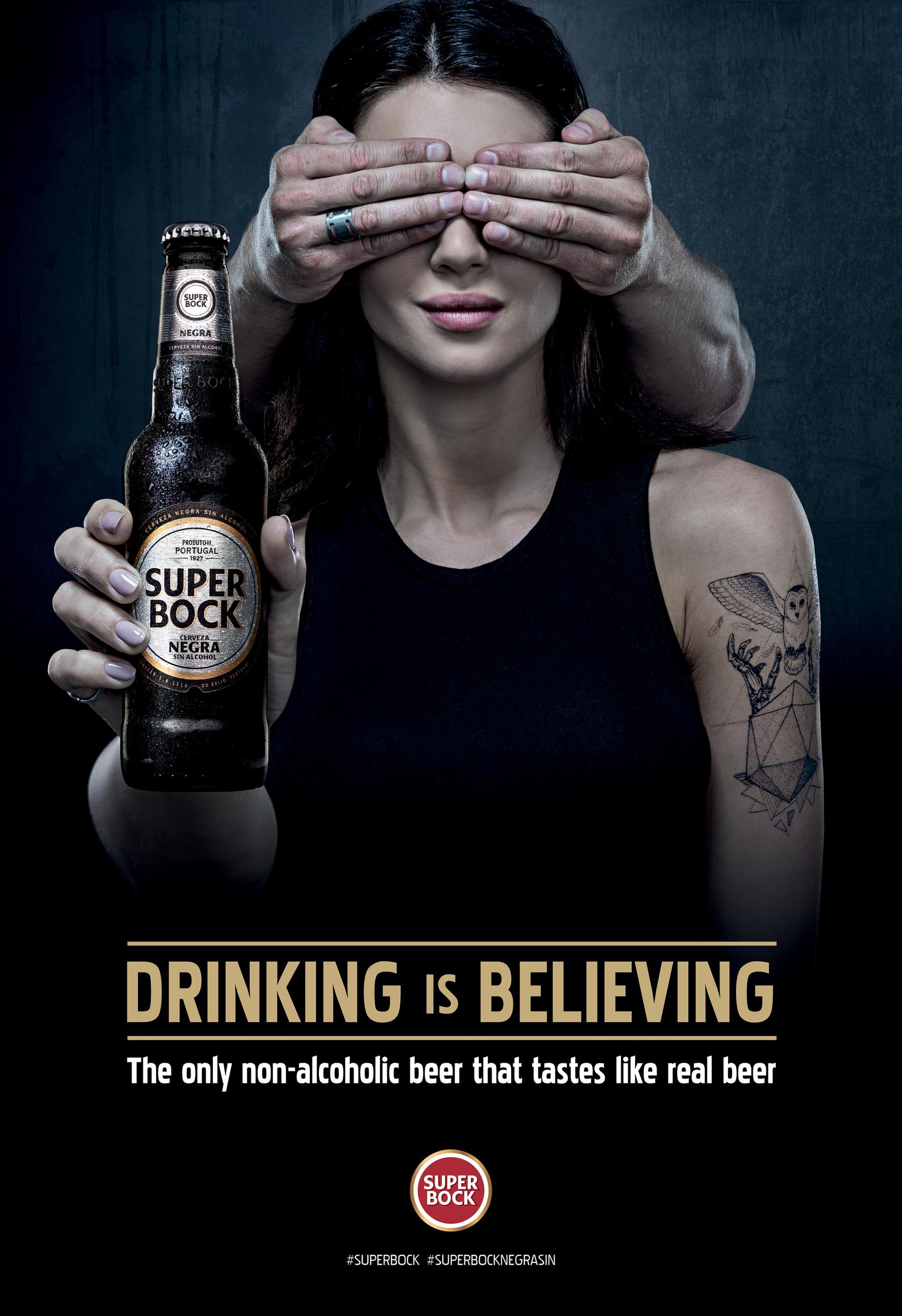 Super Bock Print Ad - Woman