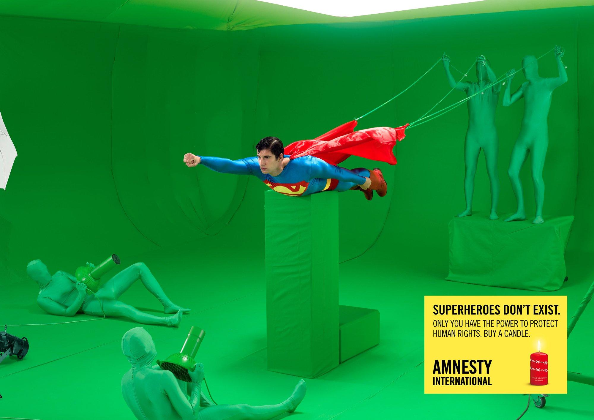 Amnesty International Print Ad -  Superman