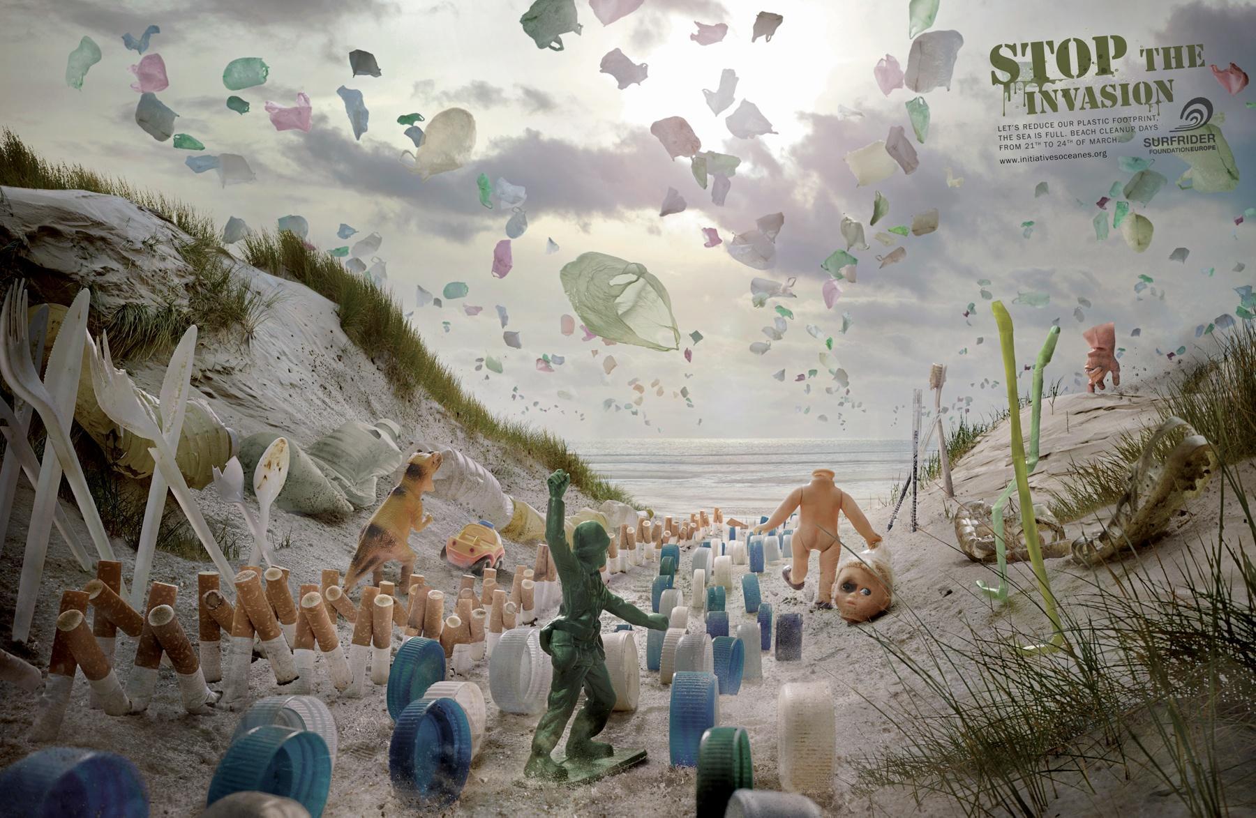 Surfrider Foundation Print Ad -  Plastic invasion