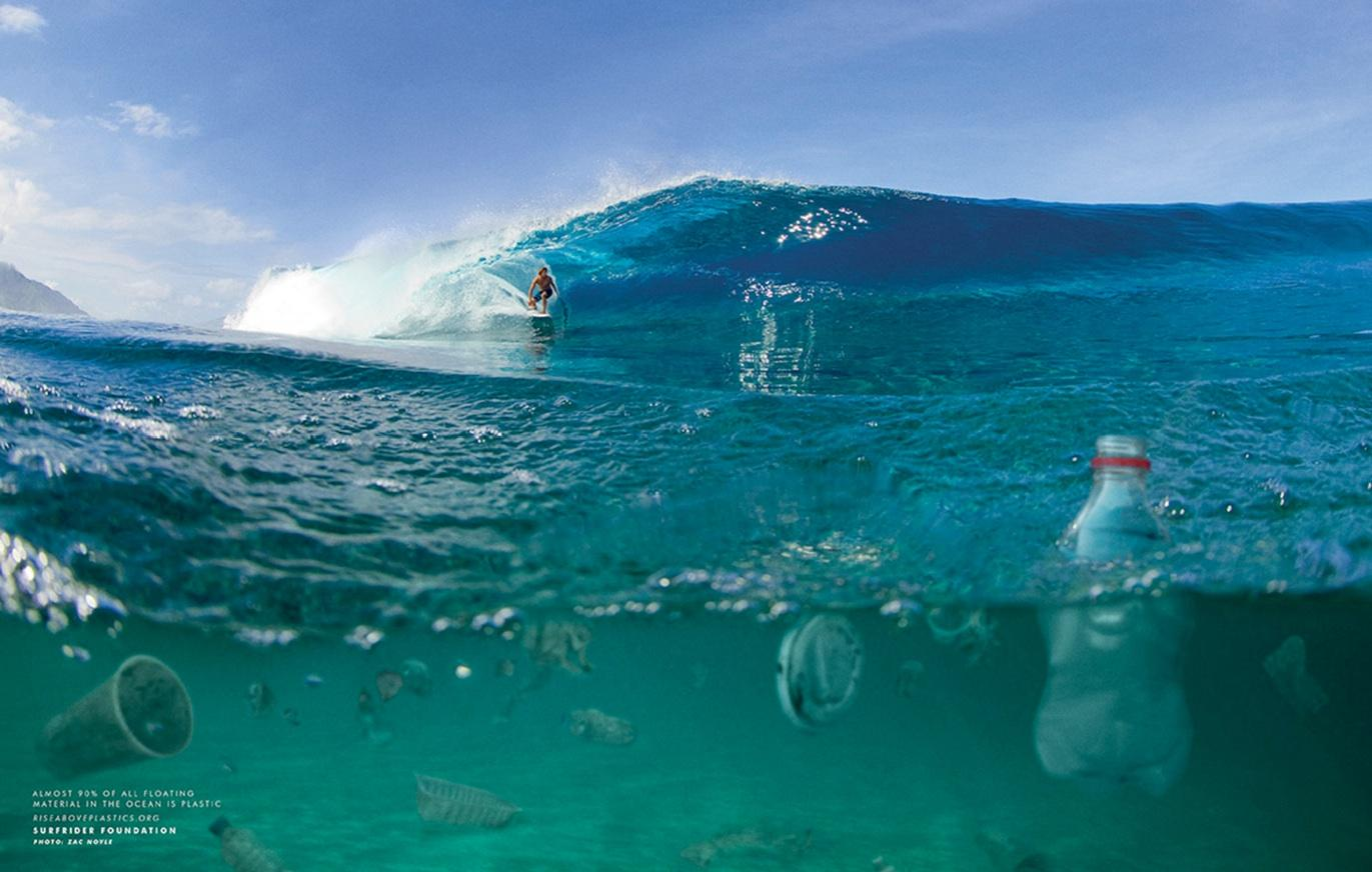 Surfrider Foundation Print Ad -  No Hand Barrell