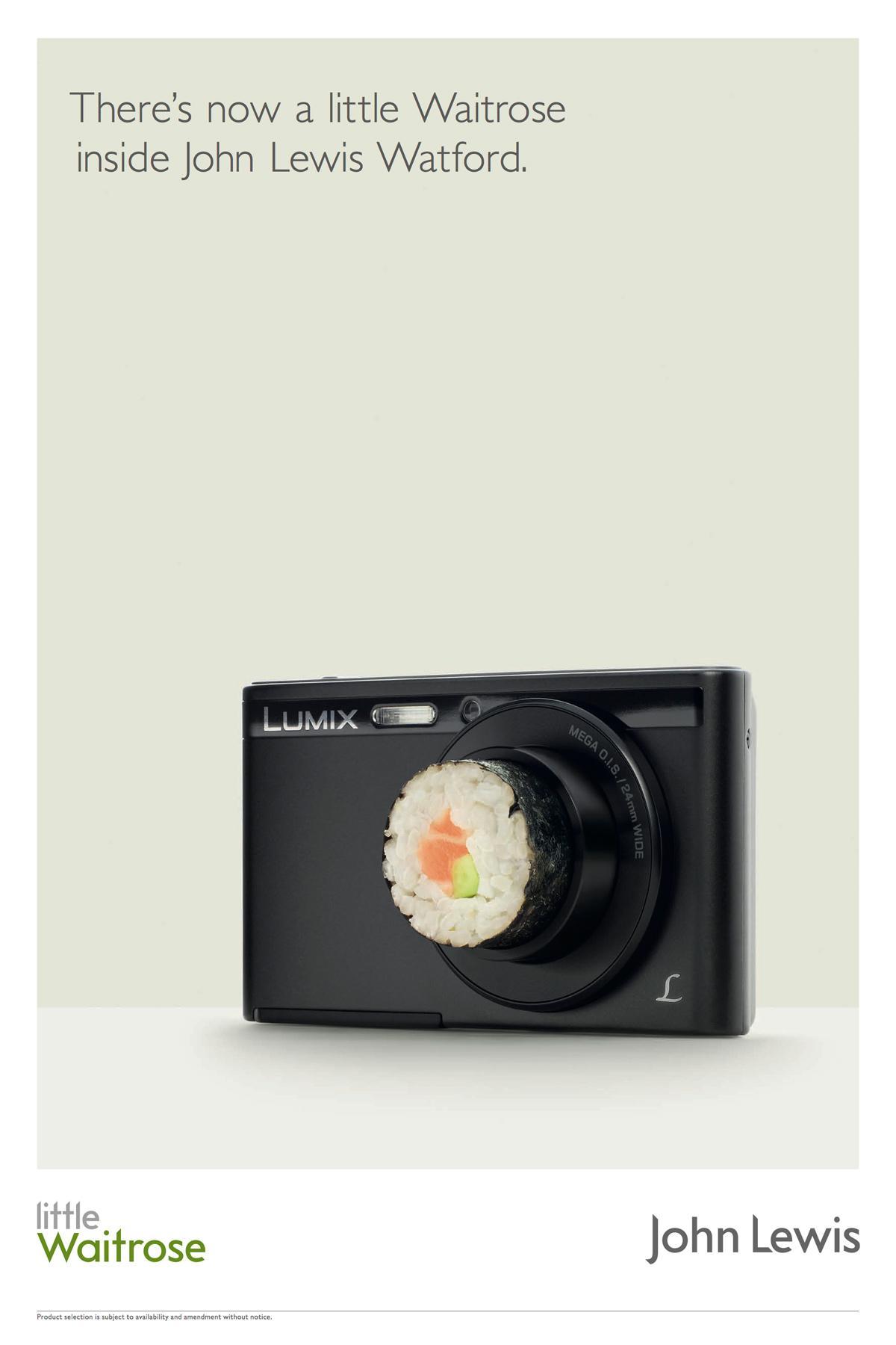 John Lewis Print Ad -  Sushi